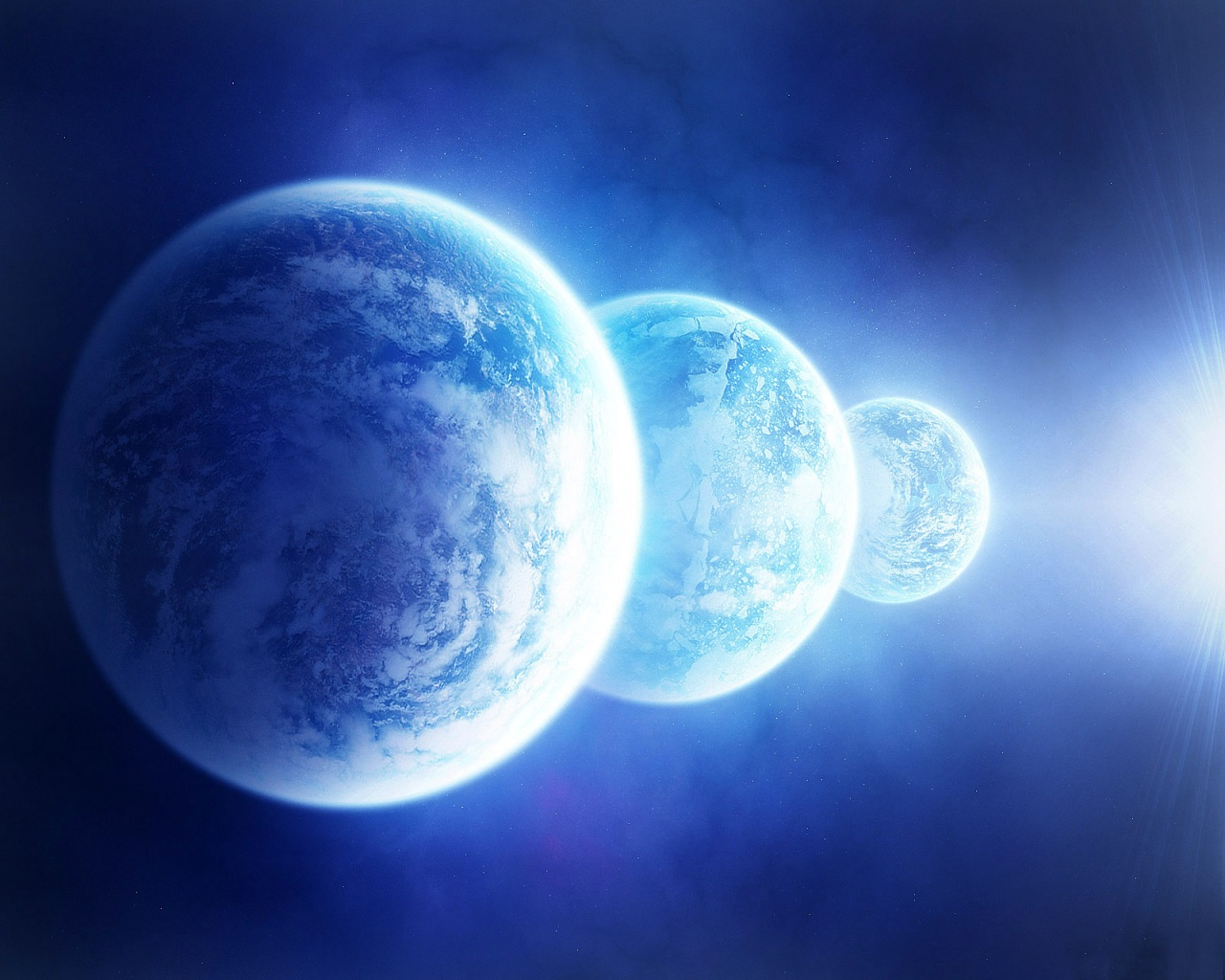 row planets in space - photo #5