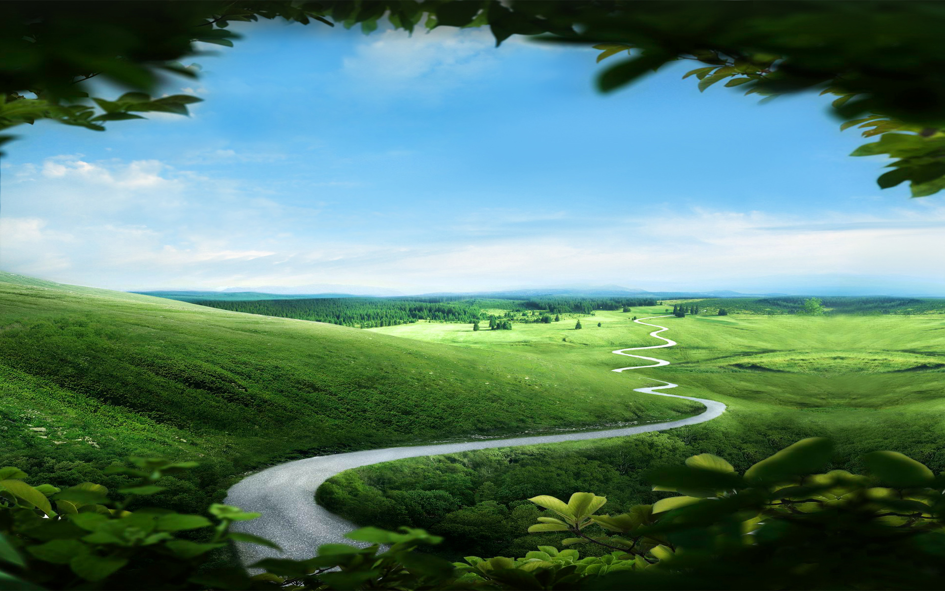 landscape scenery beautiful green landscape amazing landscape