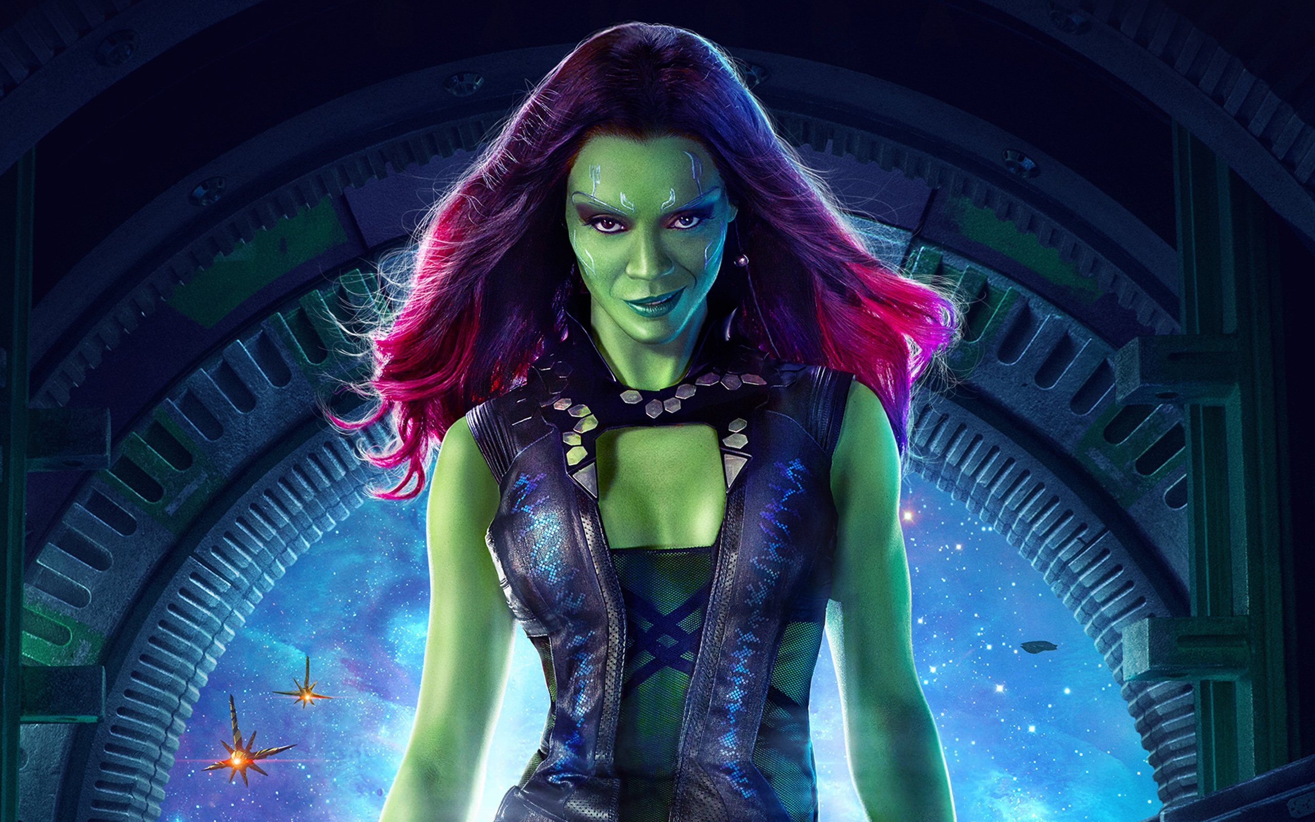 Zoe Saldana As Gamora 4143152 2560x1600 All For Desktop