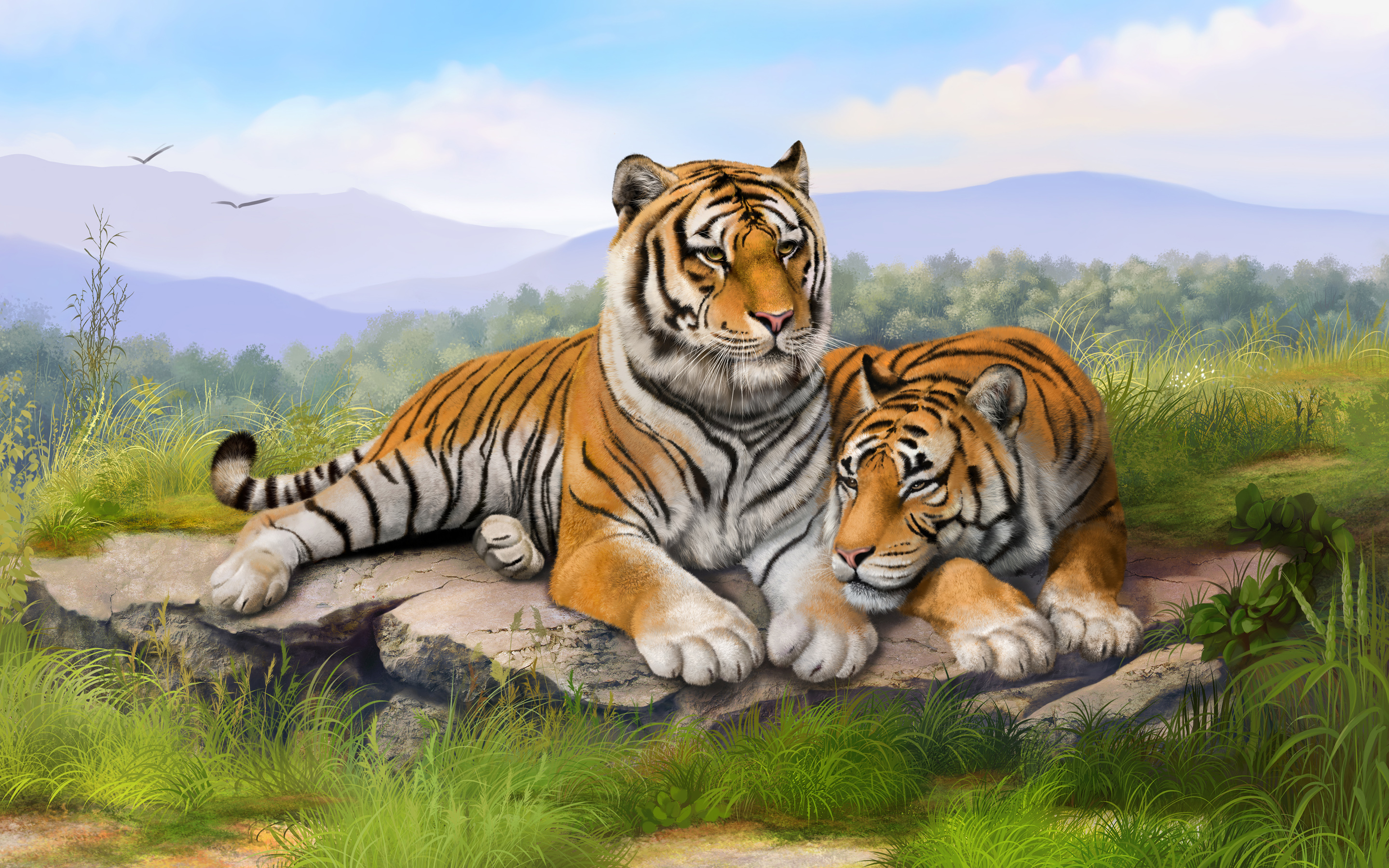 White Bengal Tigers Widescreen 4212100 1920x1200