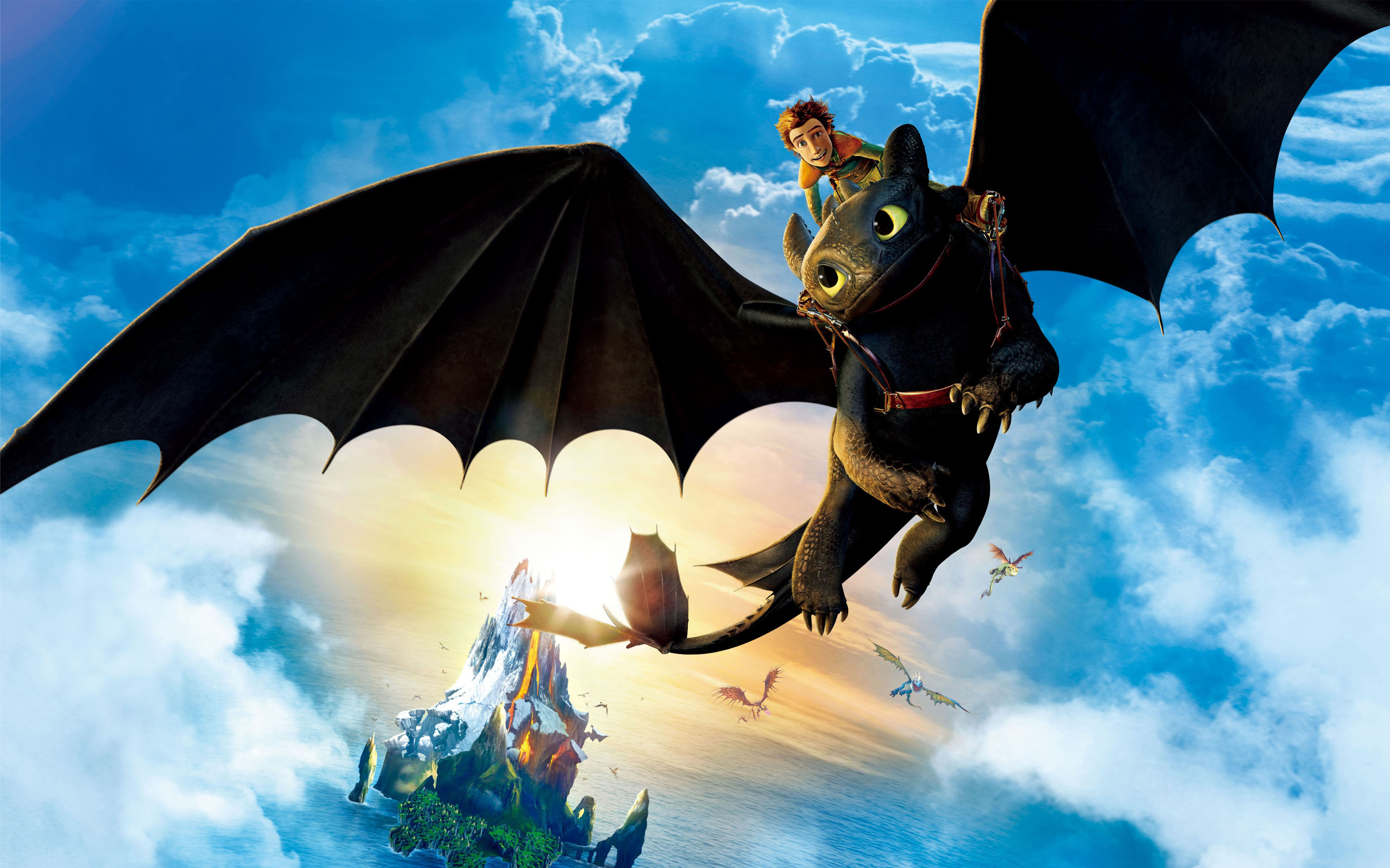 Hiccup Riding Toothless 201.37 Kb