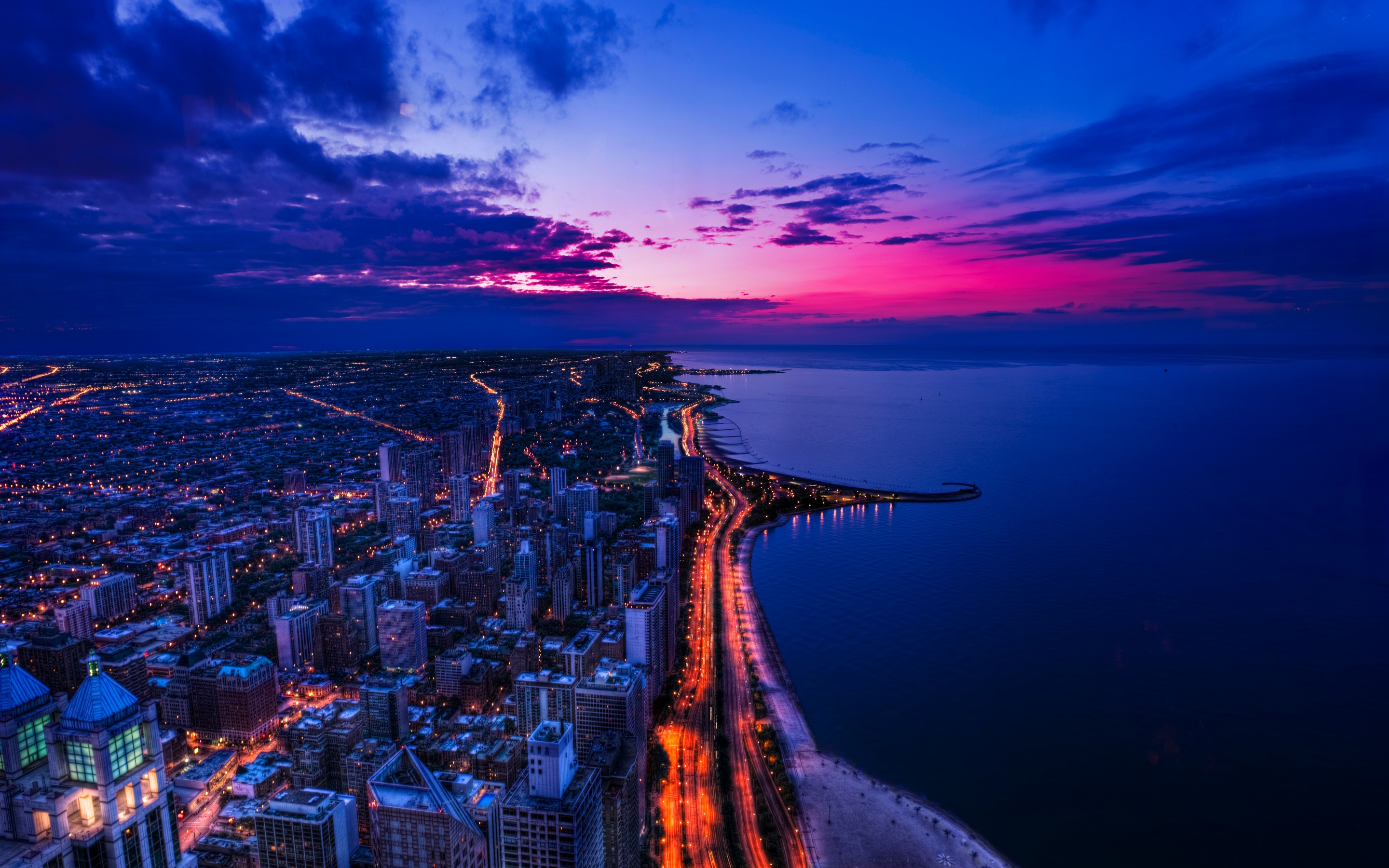 Chicago Sunset 356.32 Kb