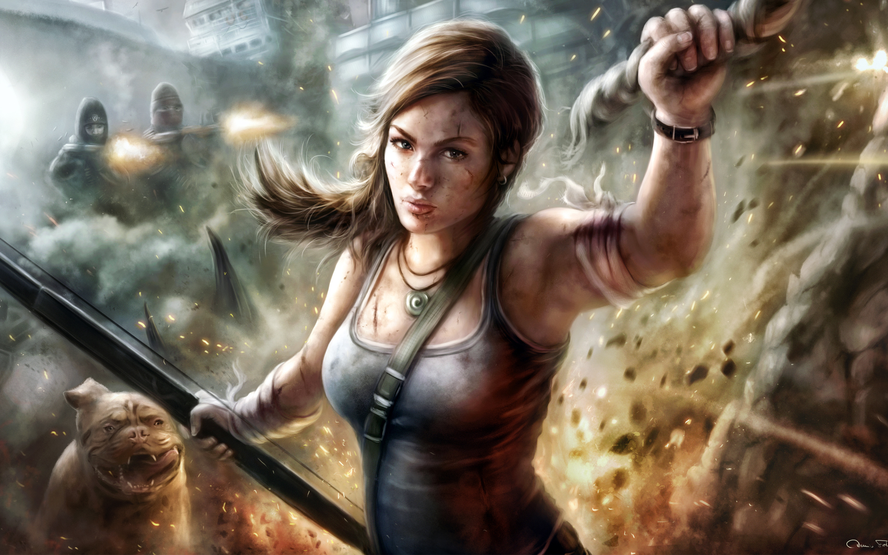 Lady Lara Croft 468.61 Kb