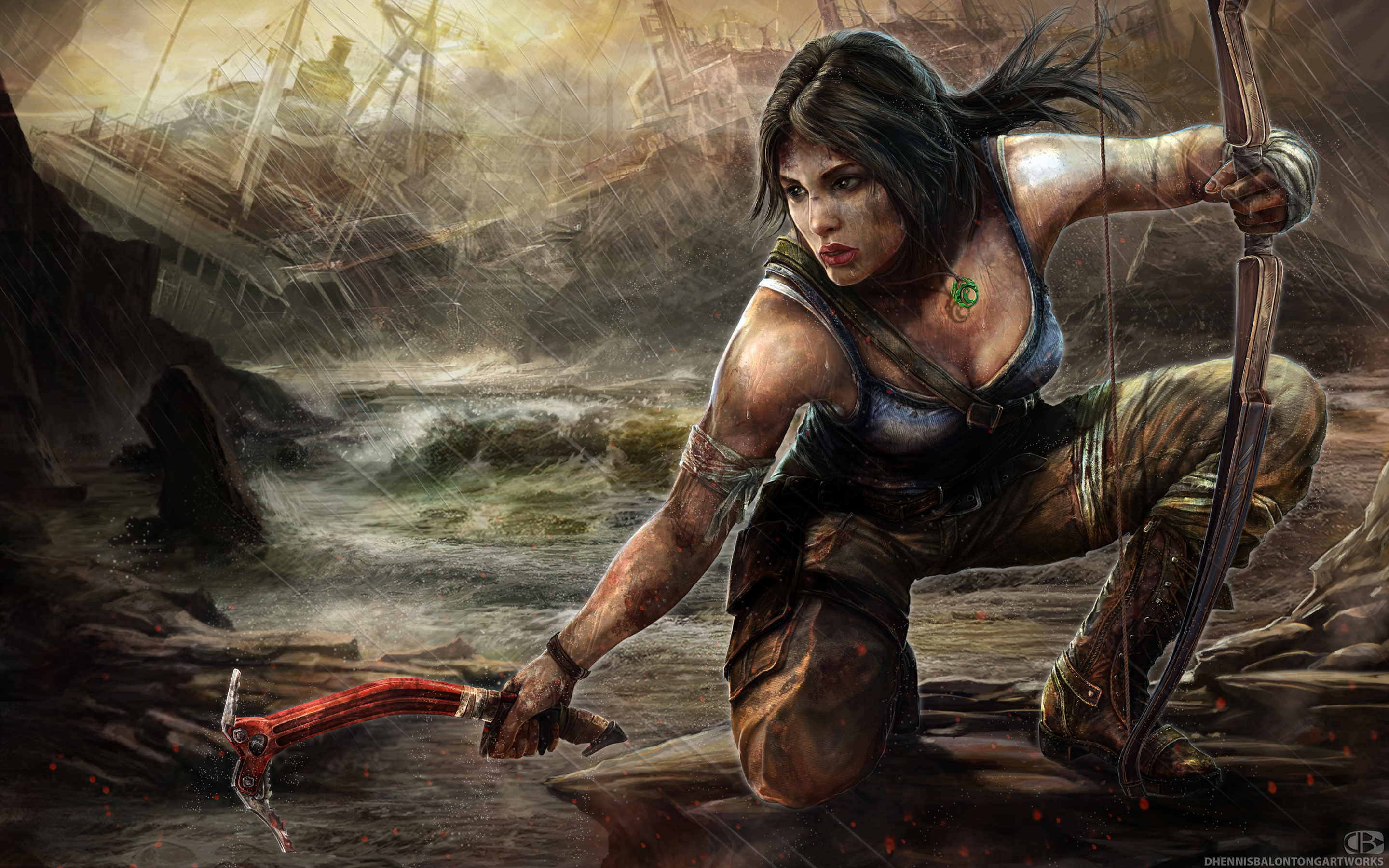 Lara Croft Tomb Raider Artwork 4154629 2880x1800 All For