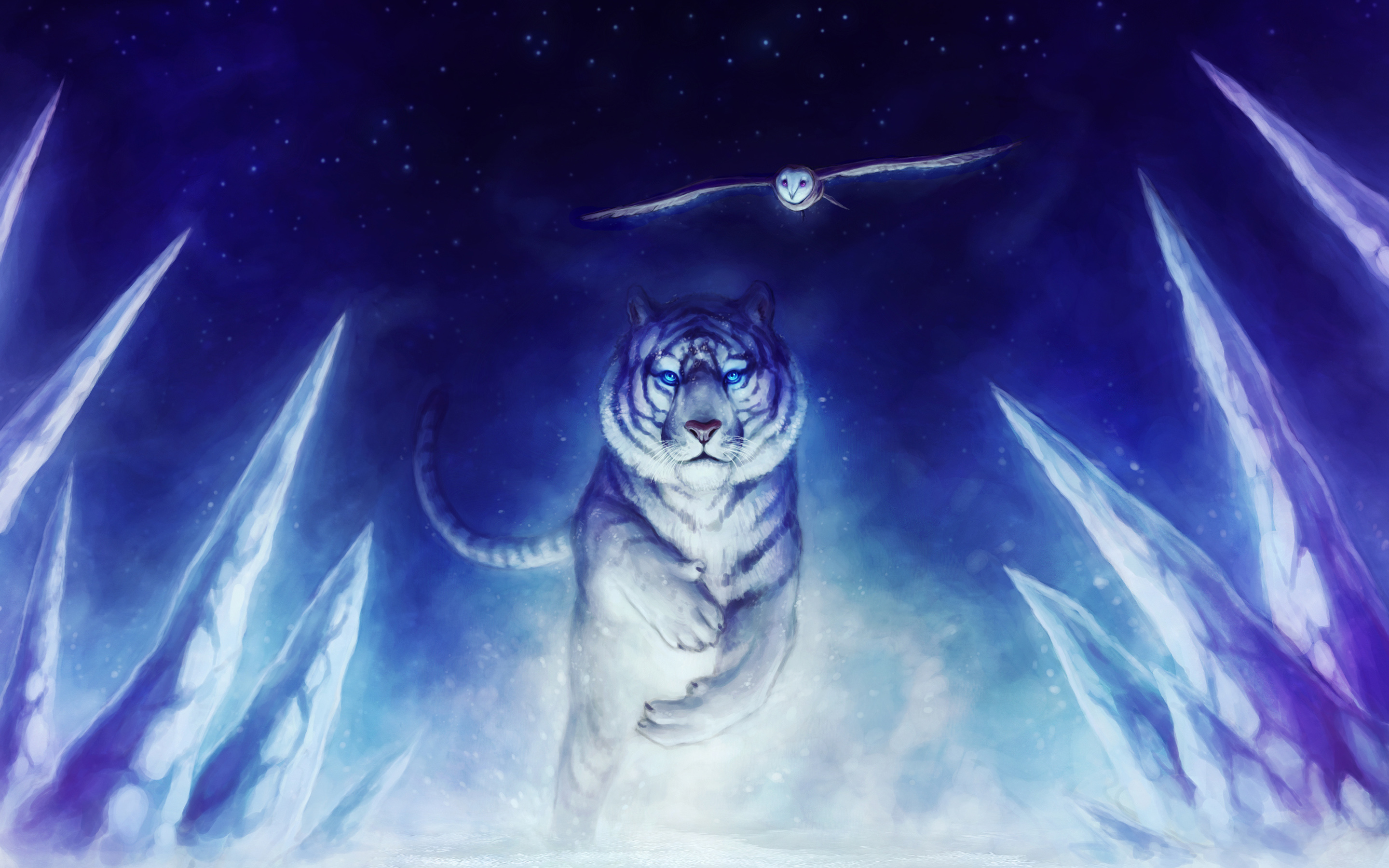 White Tiger Owl Art 367.89 Kb