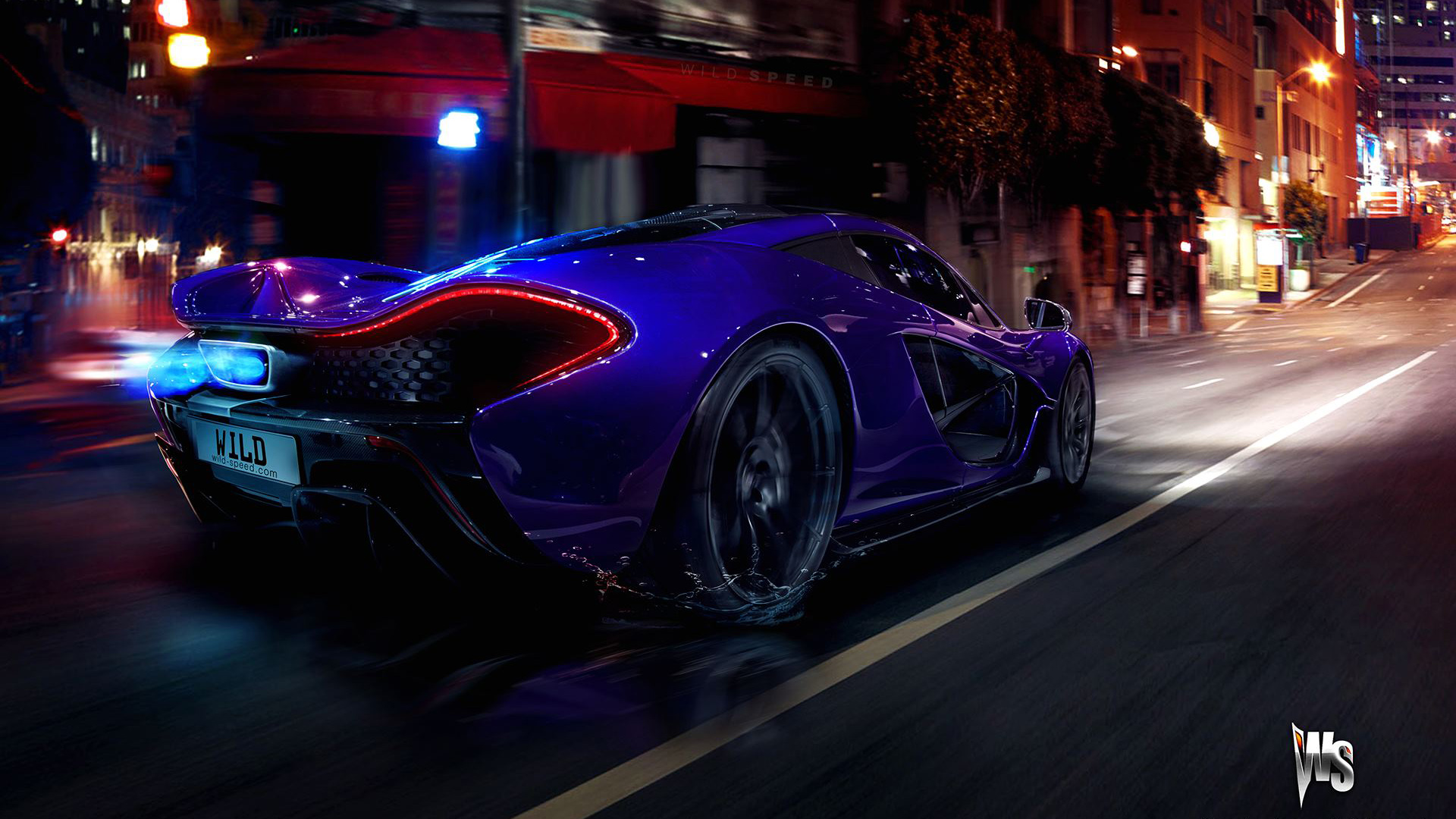 McLaren P1 in Blue 294.14 Kb