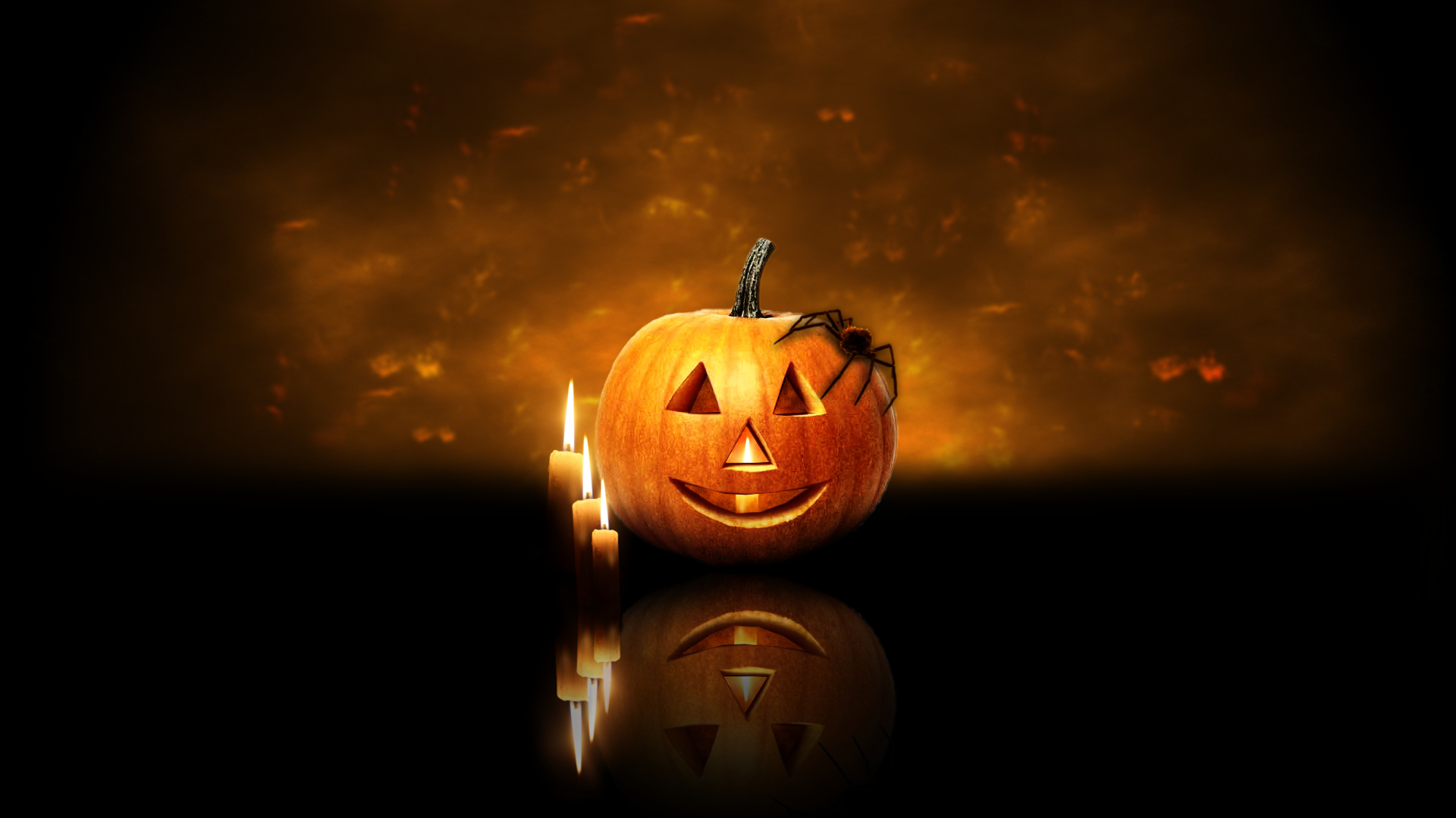 Halloween Pumpkin Candles 102.63 Kb