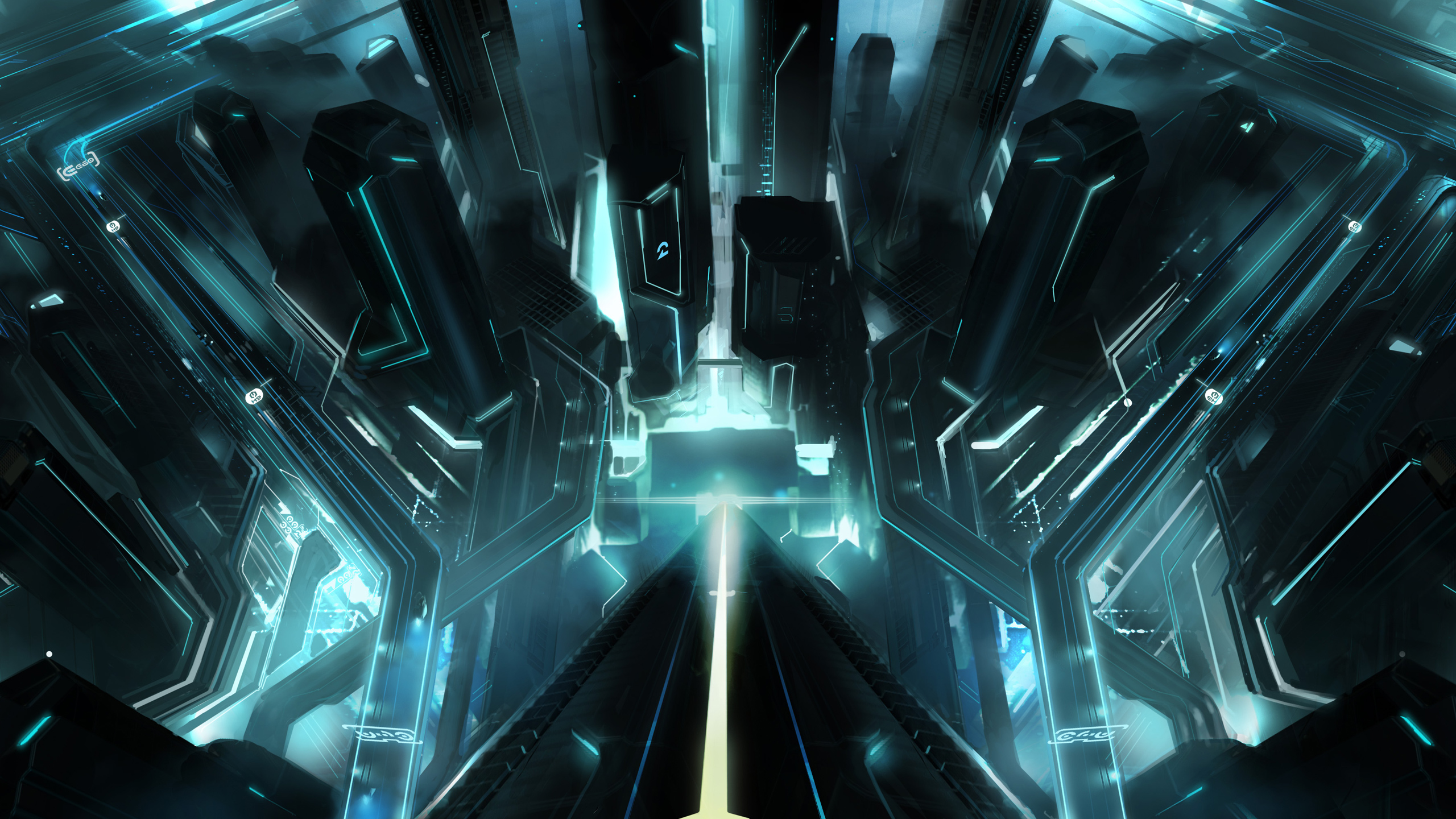 Tron City 4171205 2560x1440 All For Desktop