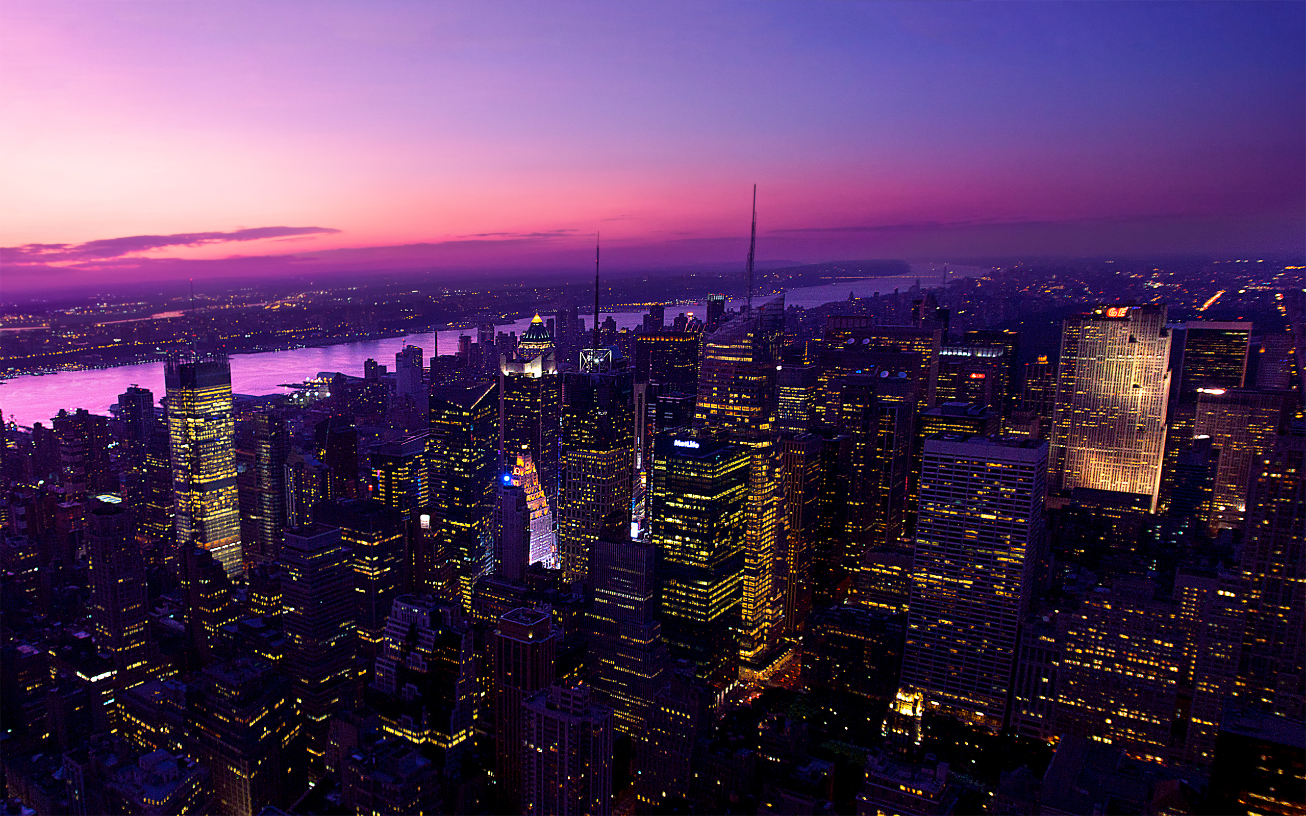 Twilight in New York City