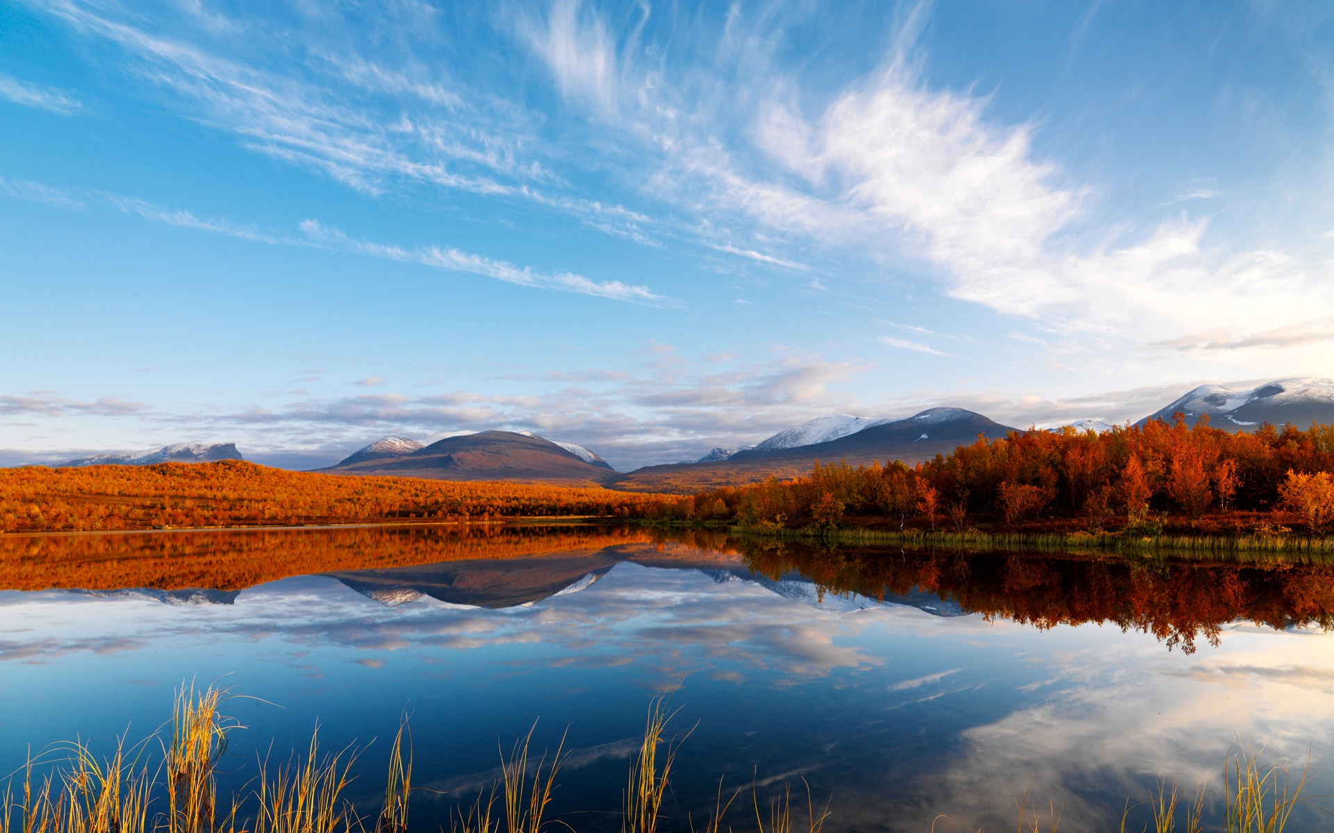 Clouds Autumn Reflection