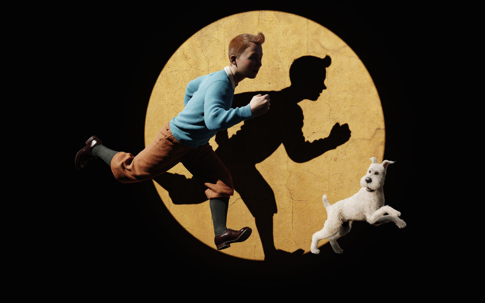 Tintin and Snowy in The Adventures of Tintin