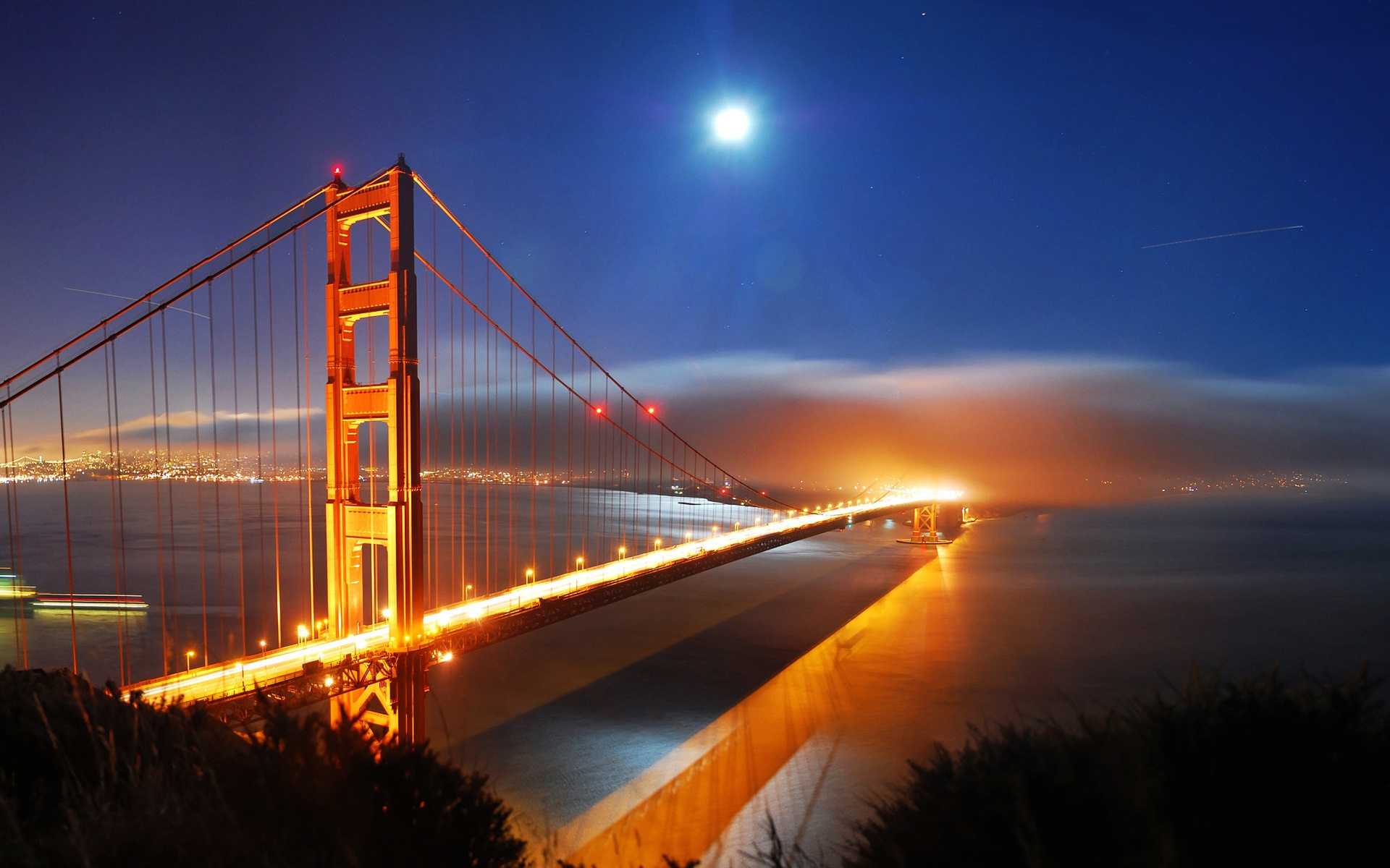 San Francisco Bridge Night Lights 402.57 Kb