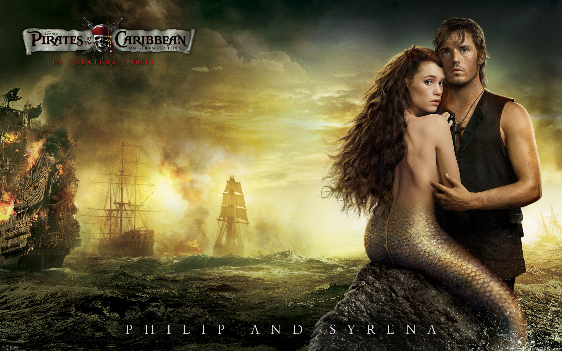 Philip and Syrena in Pirates 4
