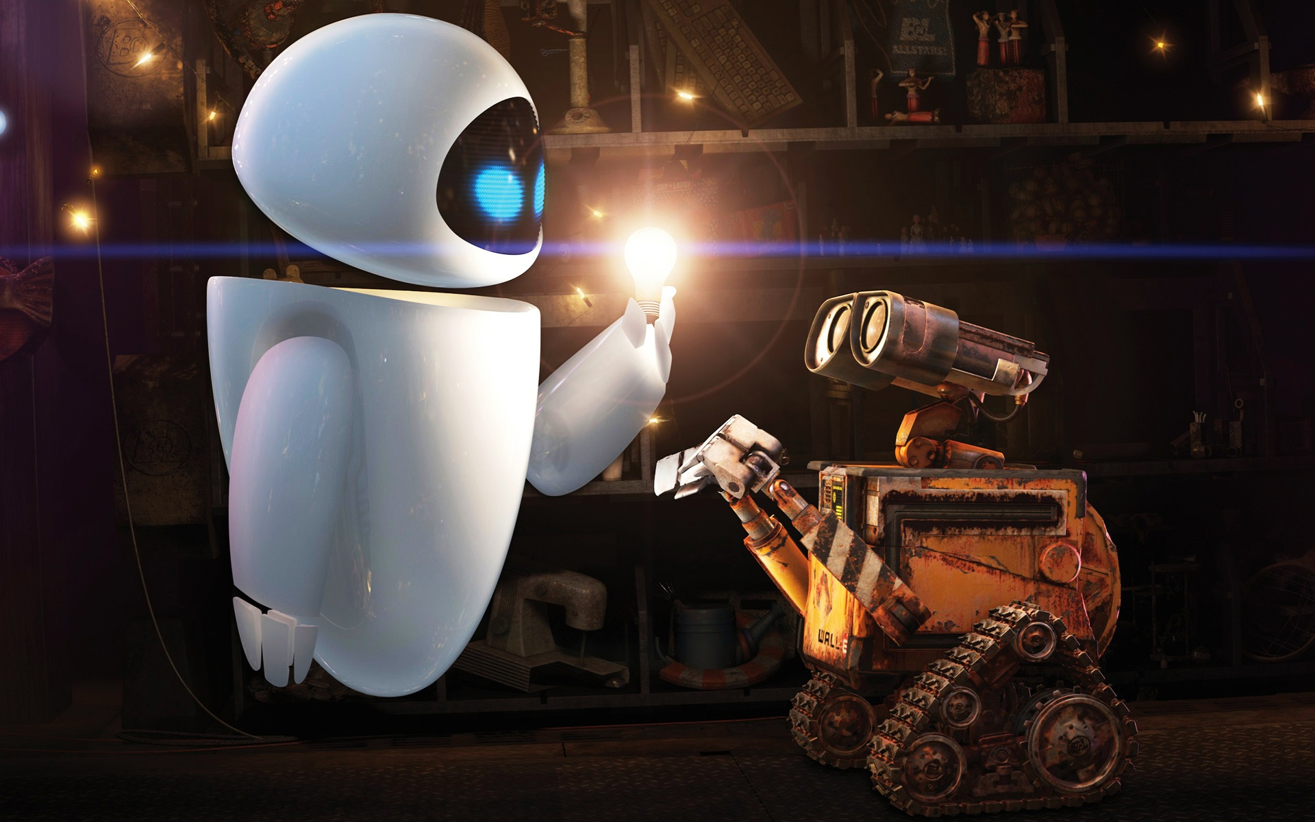 WALL E and EVE 390.11 Kb