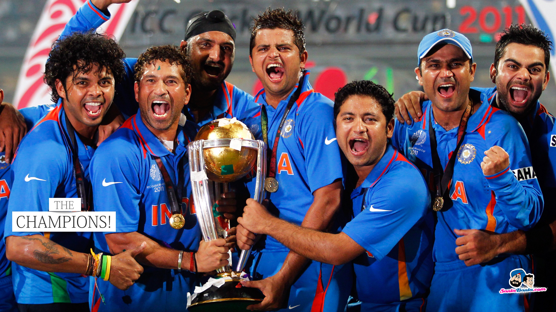 Team India 2011 World Cup 667.03 Kb