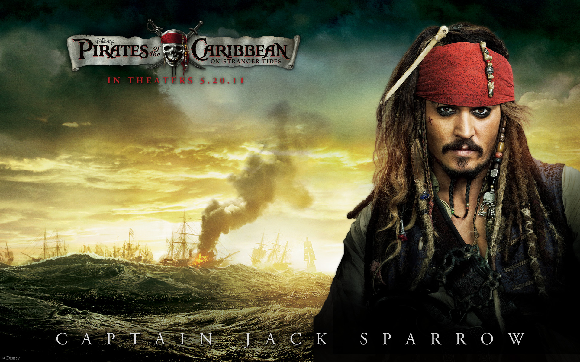 Johnny Depp In Pirates Of The Caribbean 4 4181733