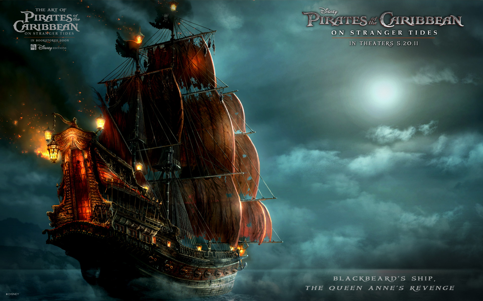 Blackbeard's Ship in Pirates Of The Caribbean 4