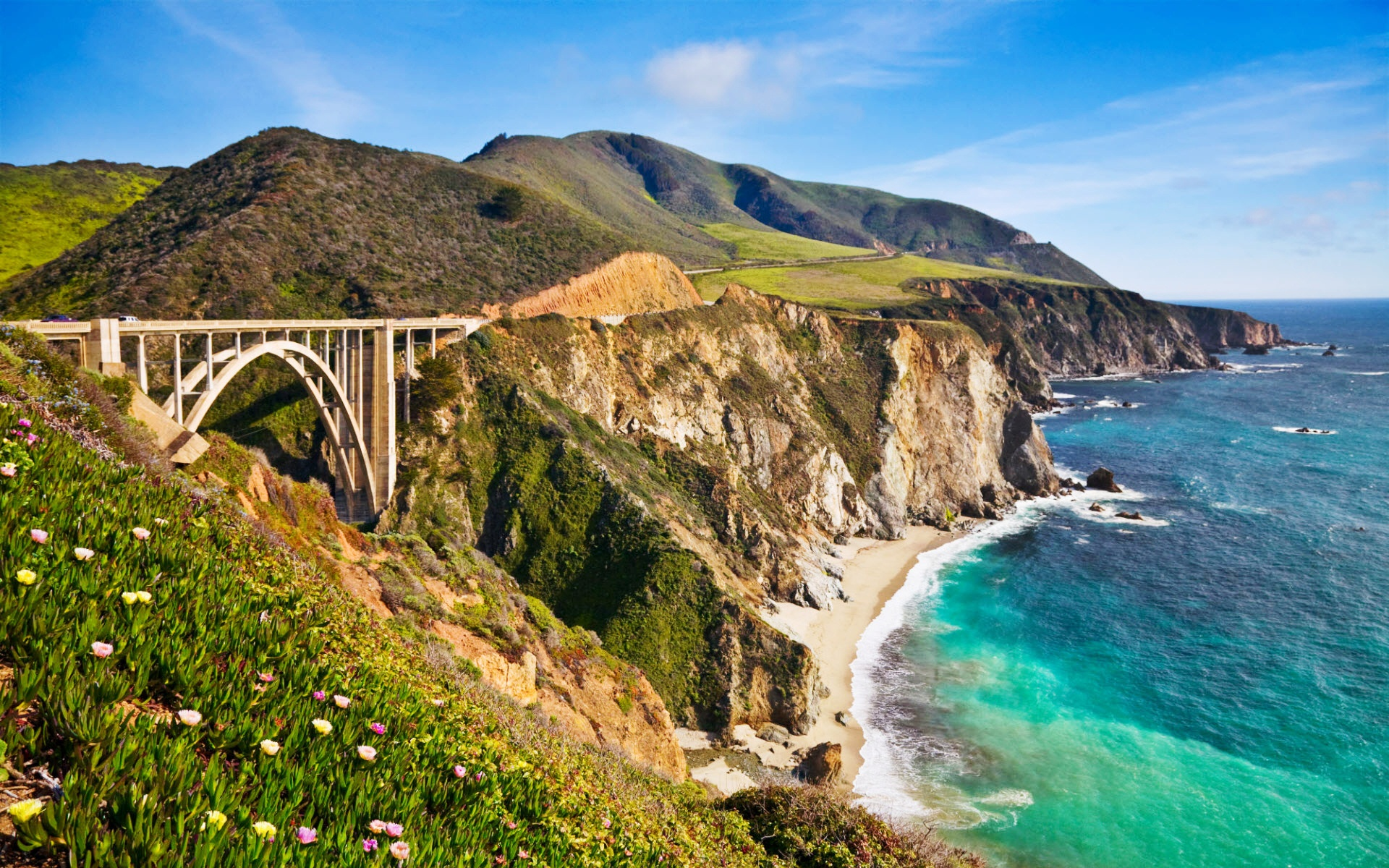 Bixby Bridge in Big Sur California 402.57 Kb