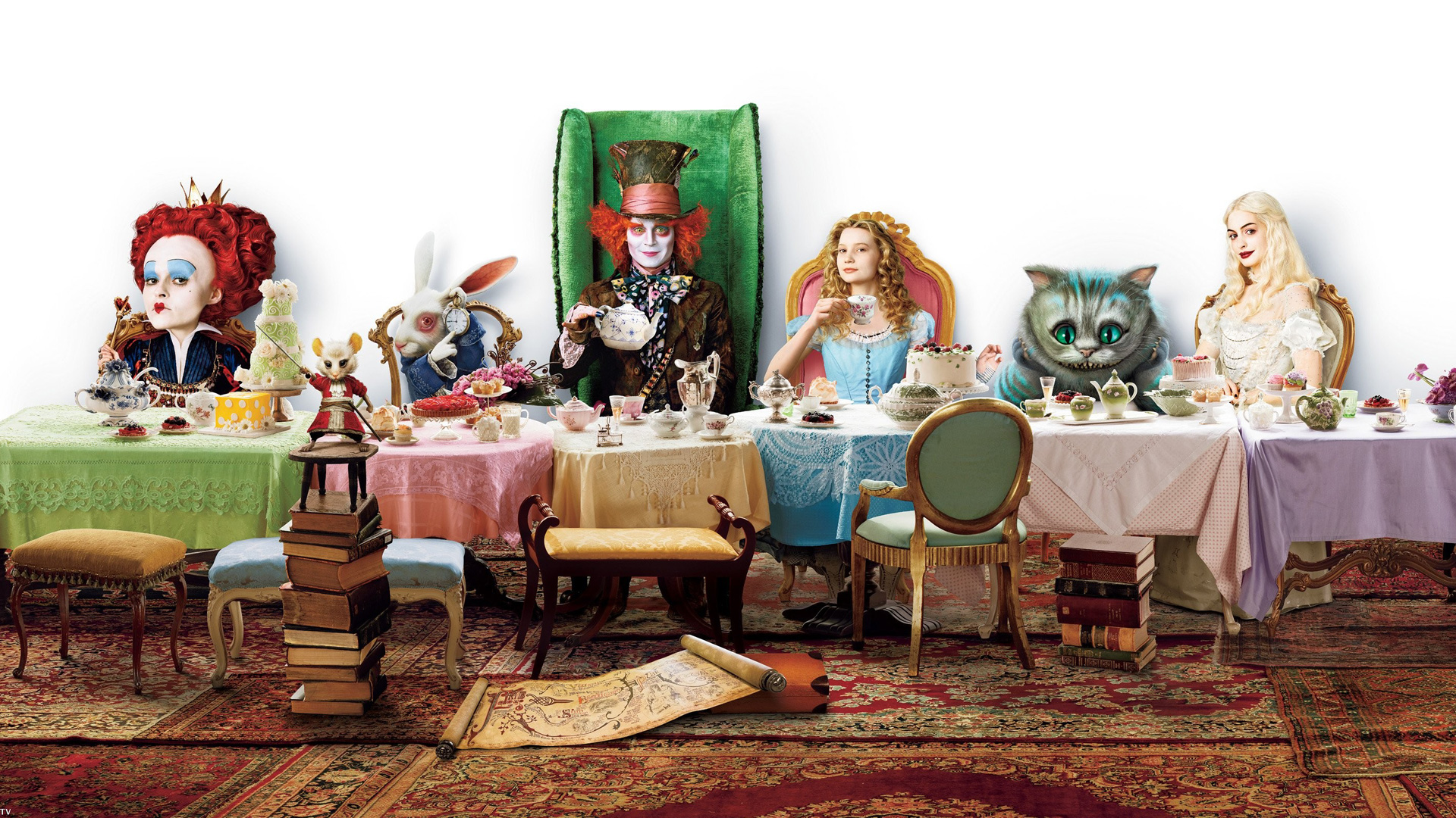 Alice in Wonderland HD Multi Monitor 490.17 Kb