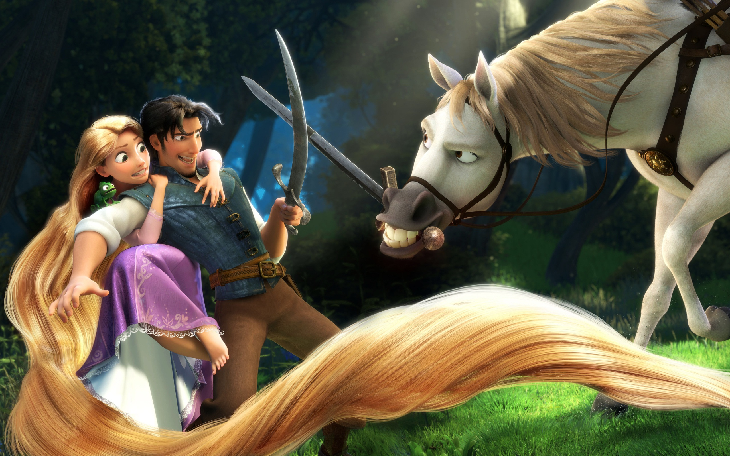 Rapunzel & Flynn in Tangled