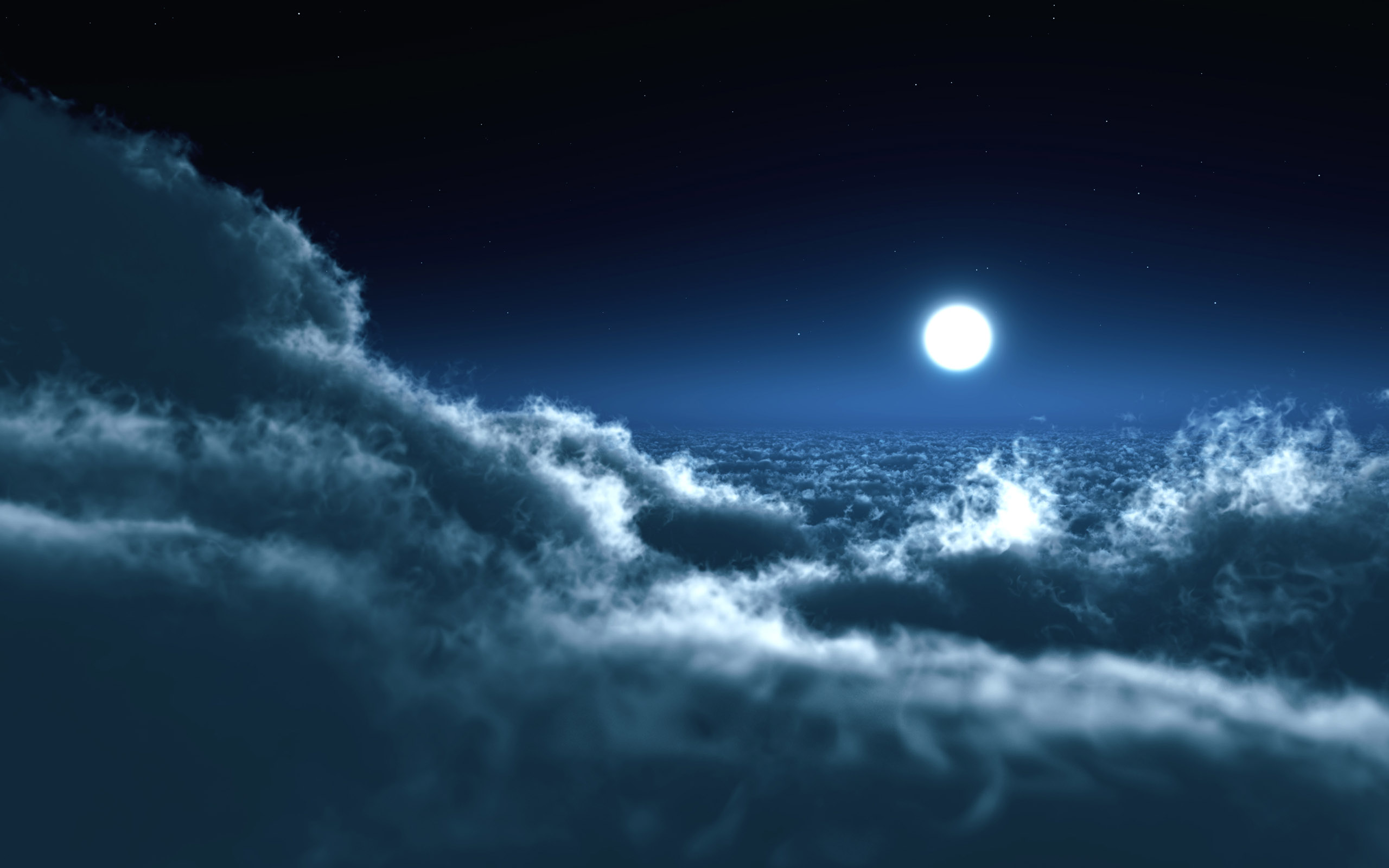 Moon Over Clouds 852.4 Kb