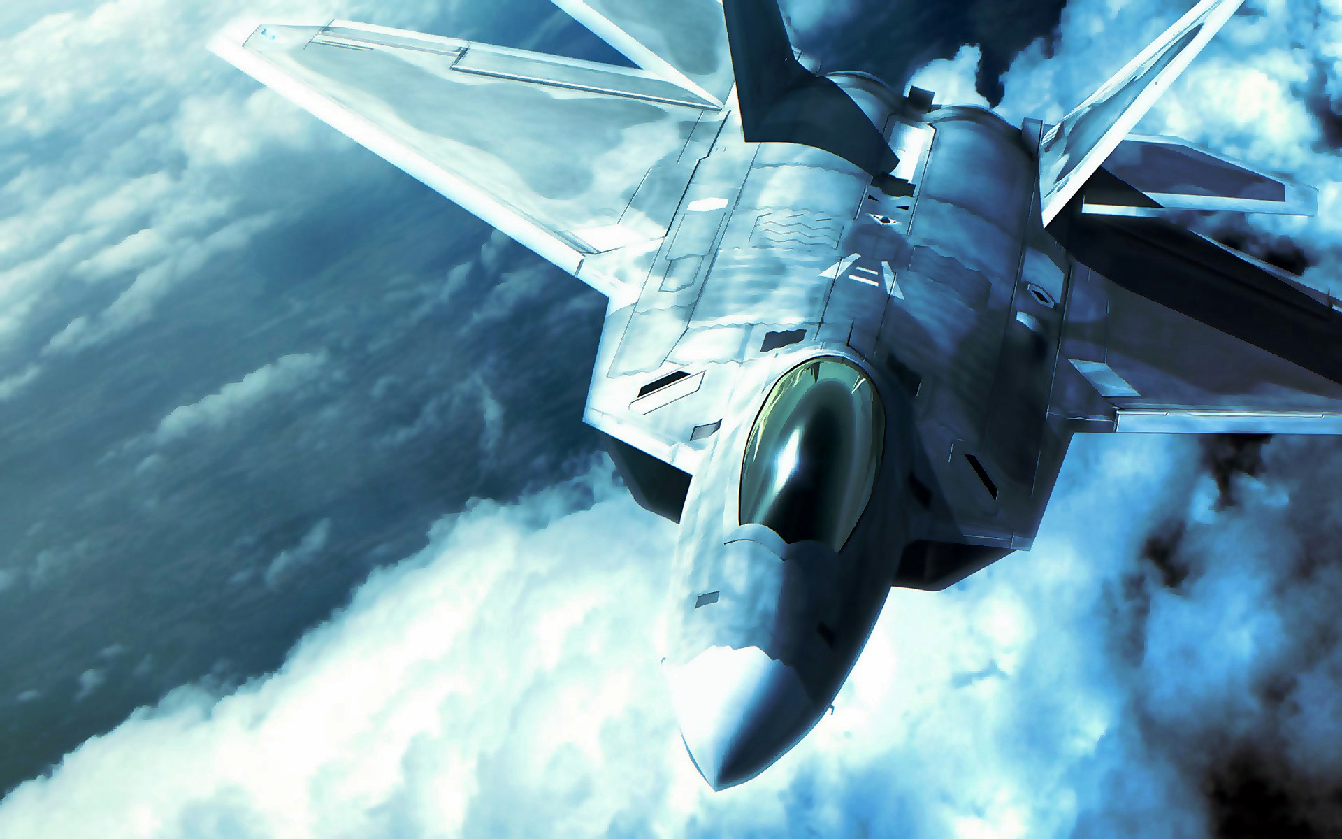 F 22 Raptor in Ace Combat 1564.86 Kb
