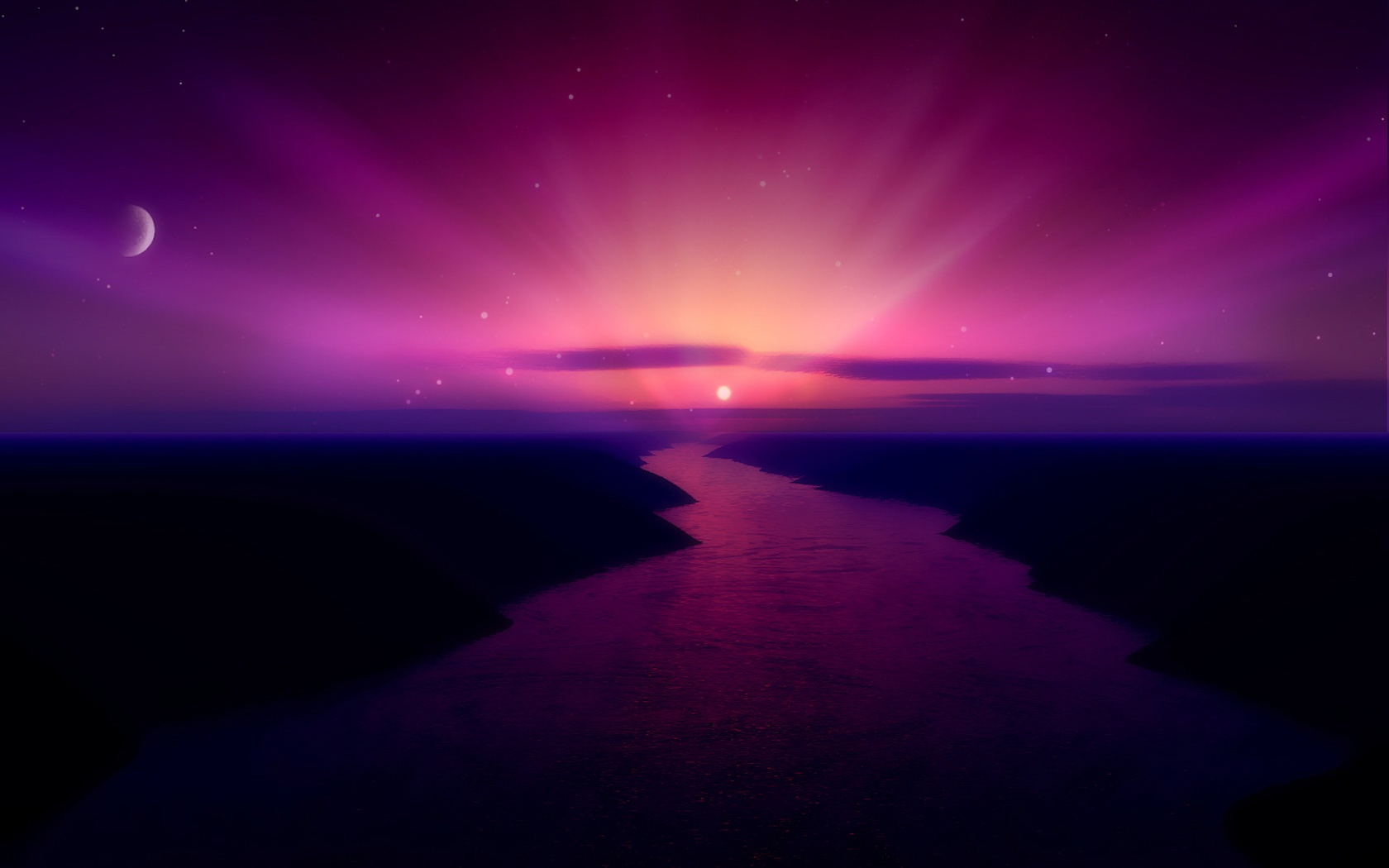 Morning Purple Sunrise 638.75 Kb