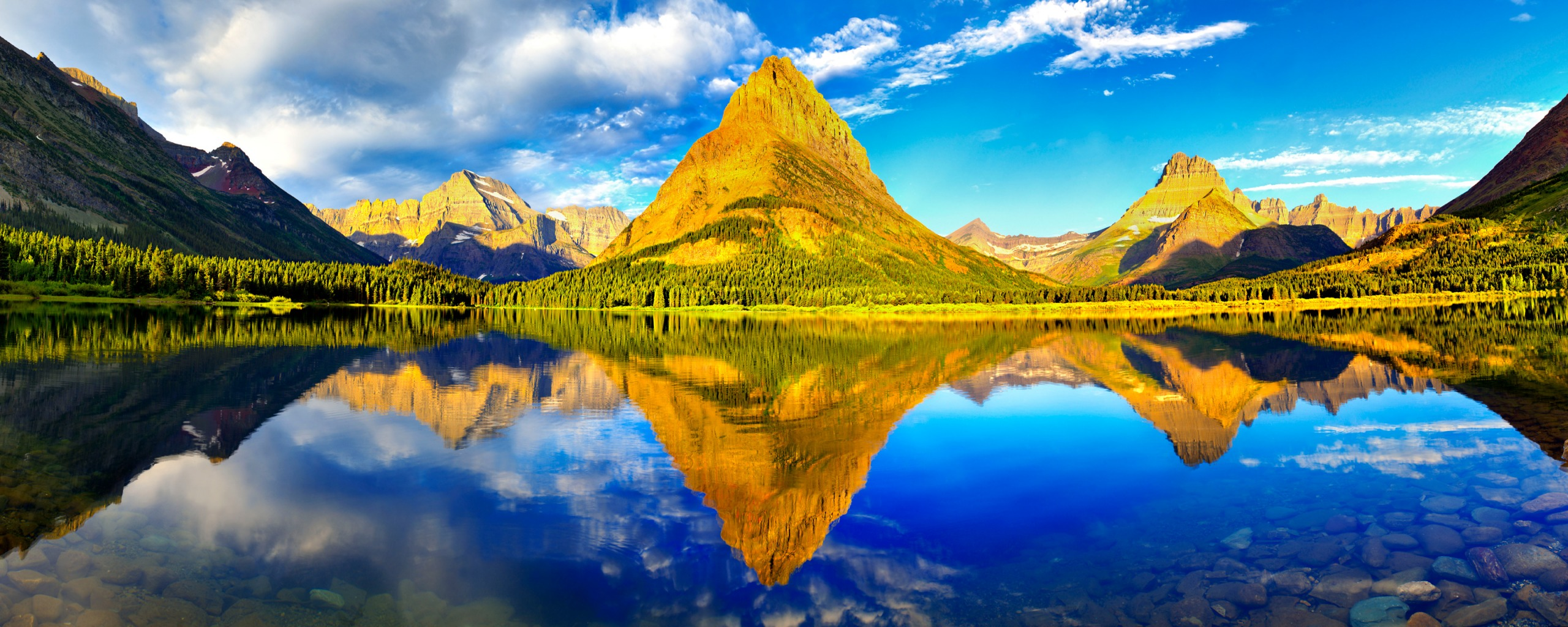Glacier National Park Dual Monitor
