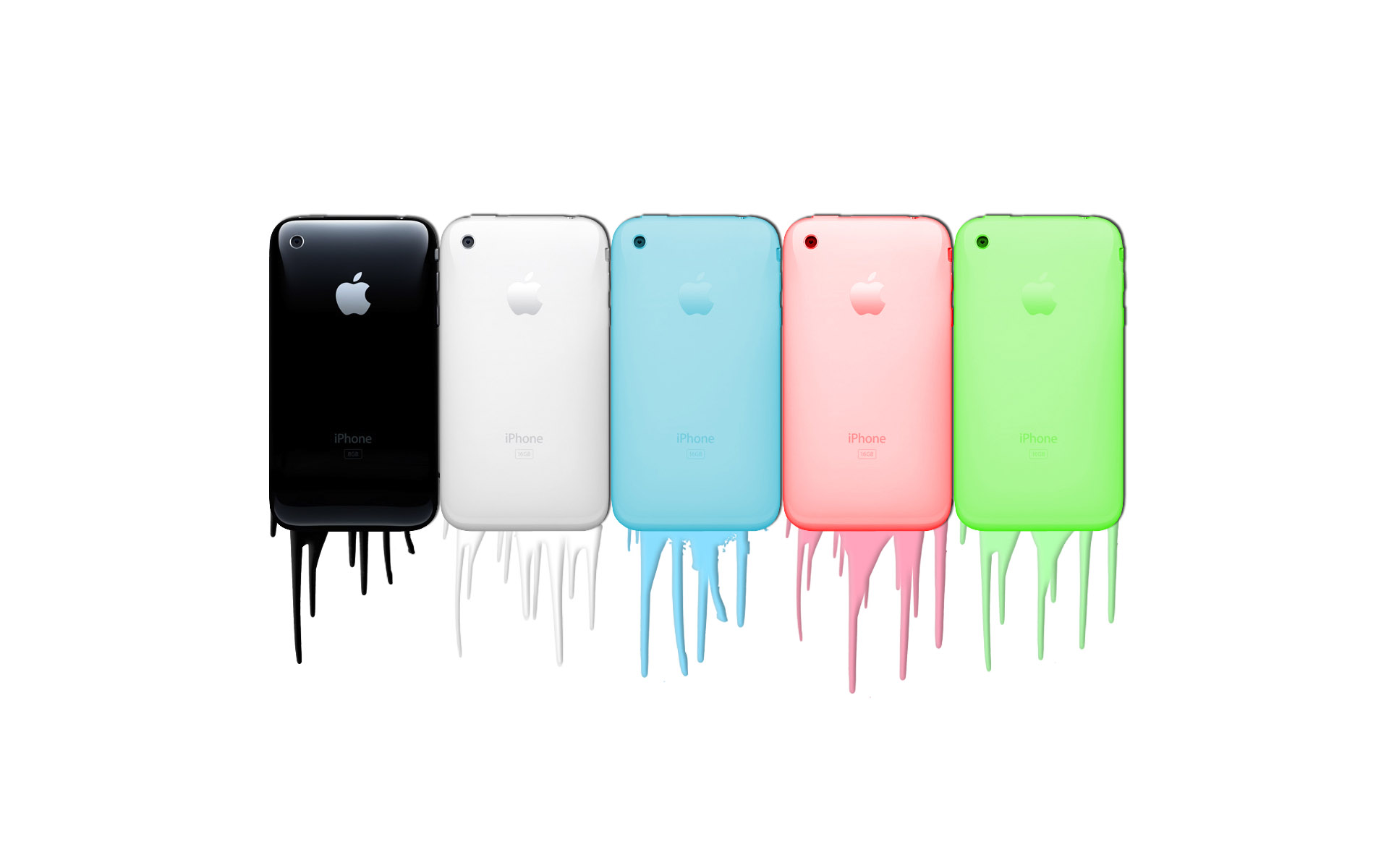 Apple iPhones in Colors