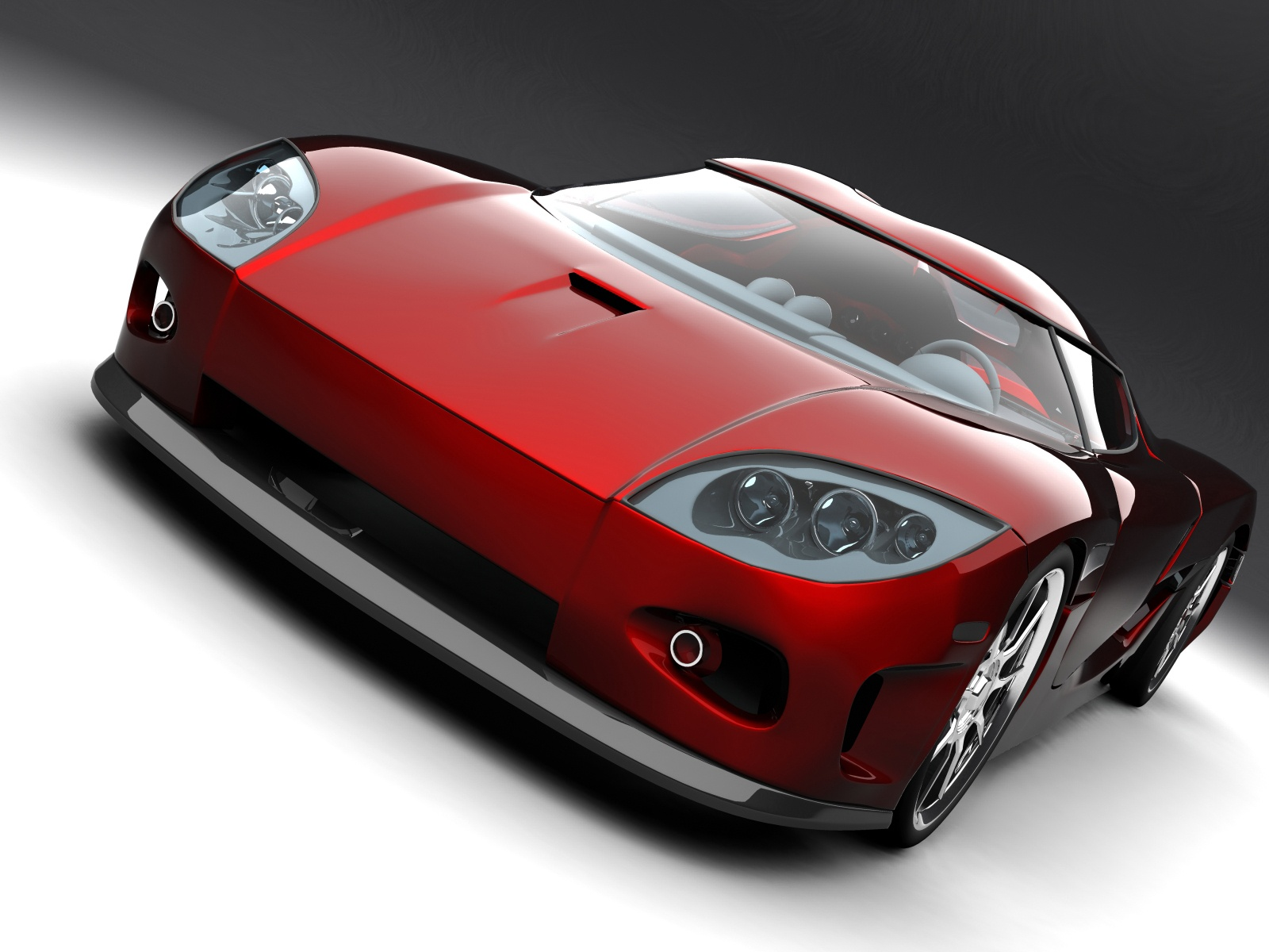 Koenigsegg Red Concept Car 877.81 Kb