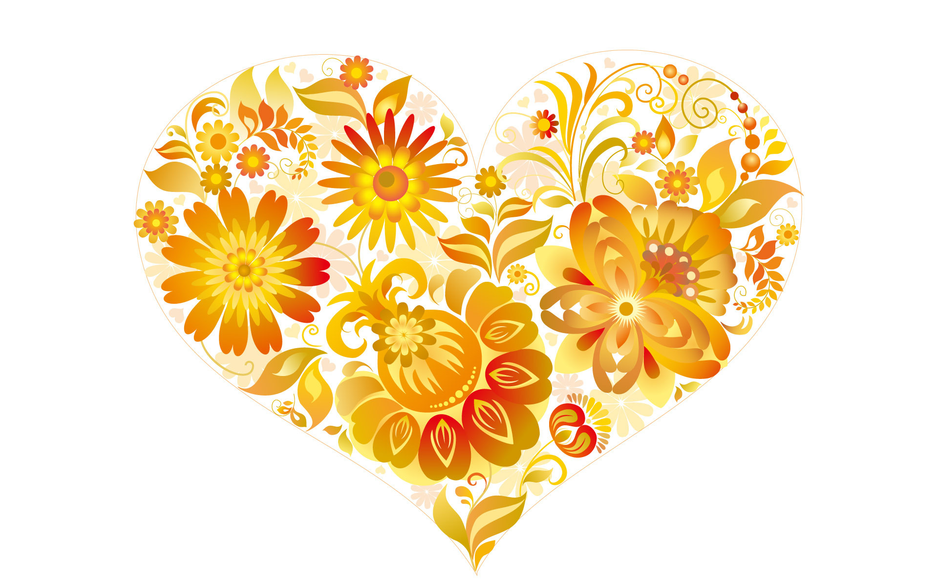 Love Heart with Flowers 559.12 Kb