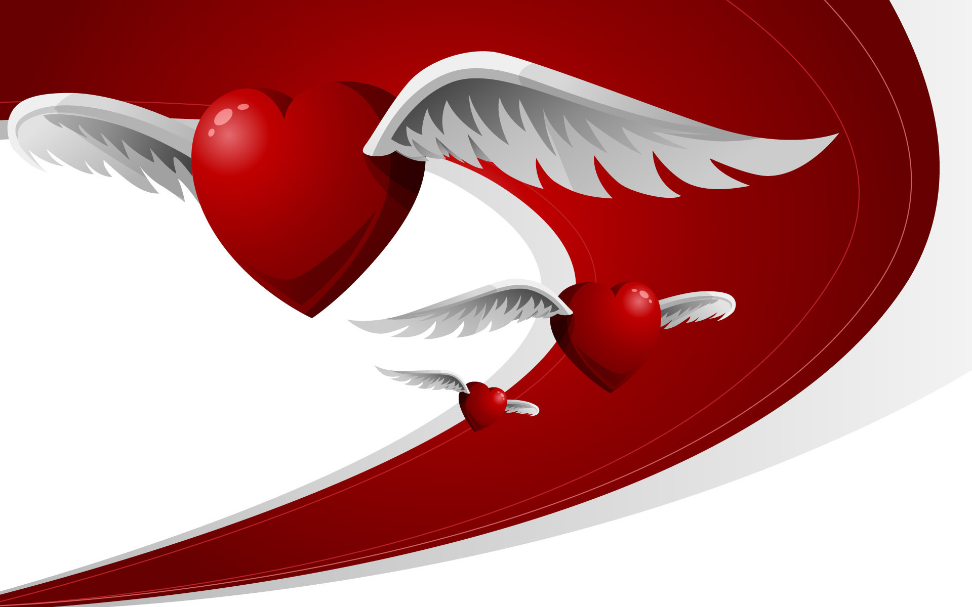 Flying Love Hearts 302.54 Kb