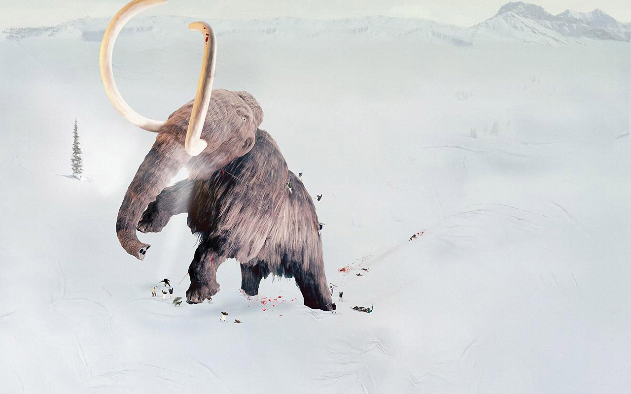 Big Ice Age Mammoth