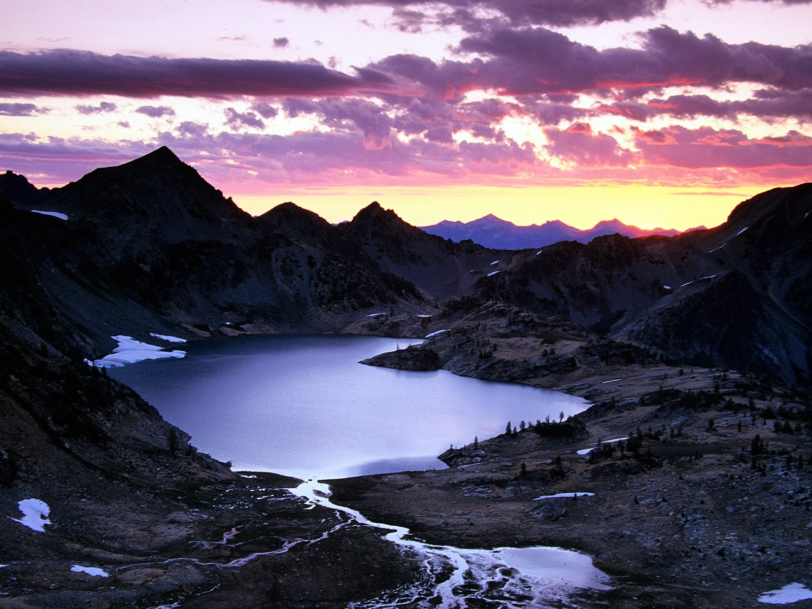 Sunrise Upper Ice Lake Basin