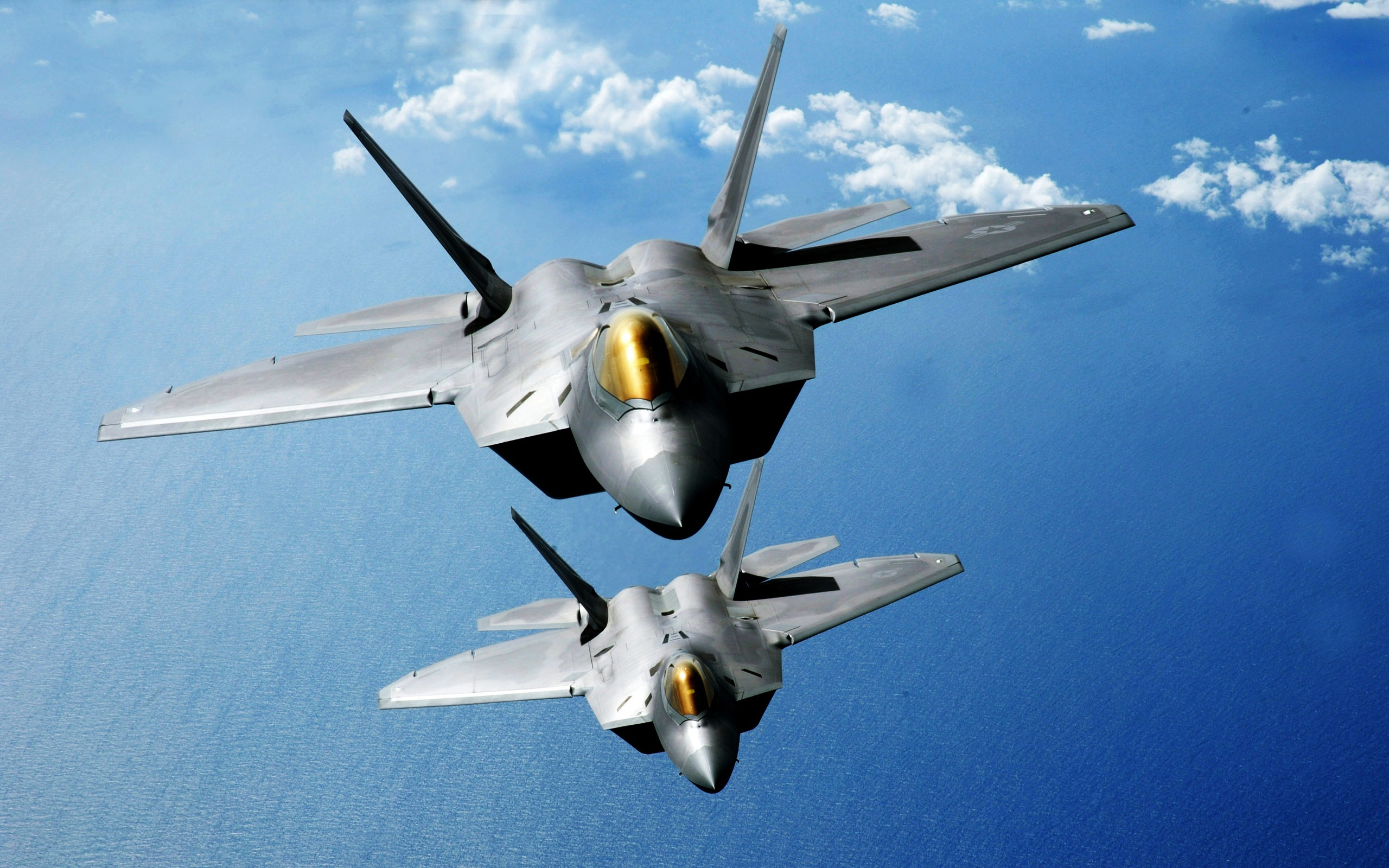 F 22 Raptors Over the Pacific