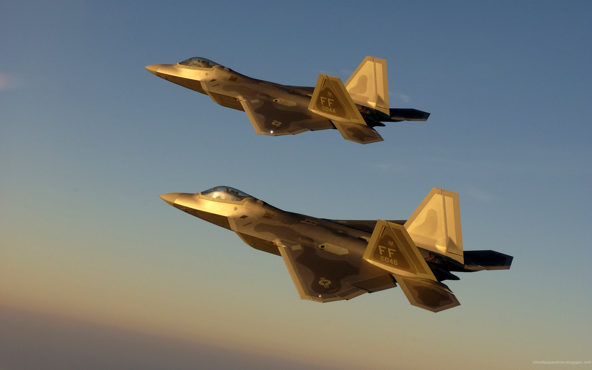 Golden Jet Fighter Planes