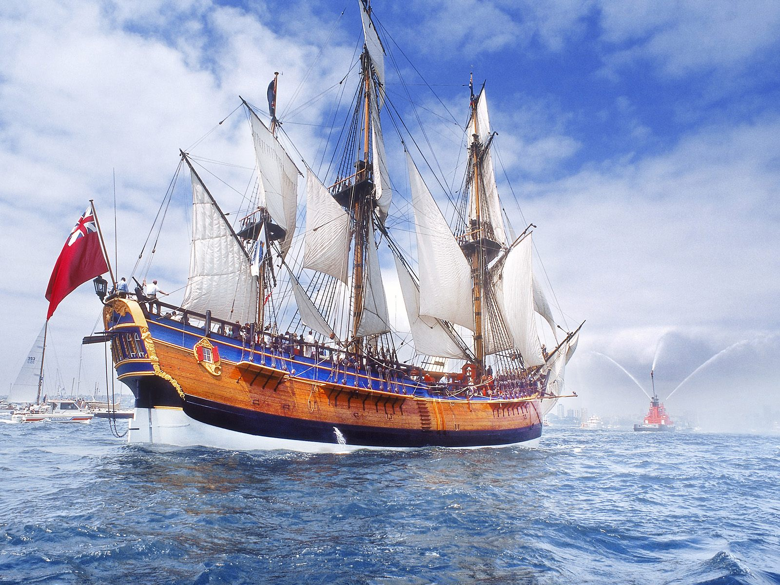 Replica of Endeavour on Sydney Harbor
