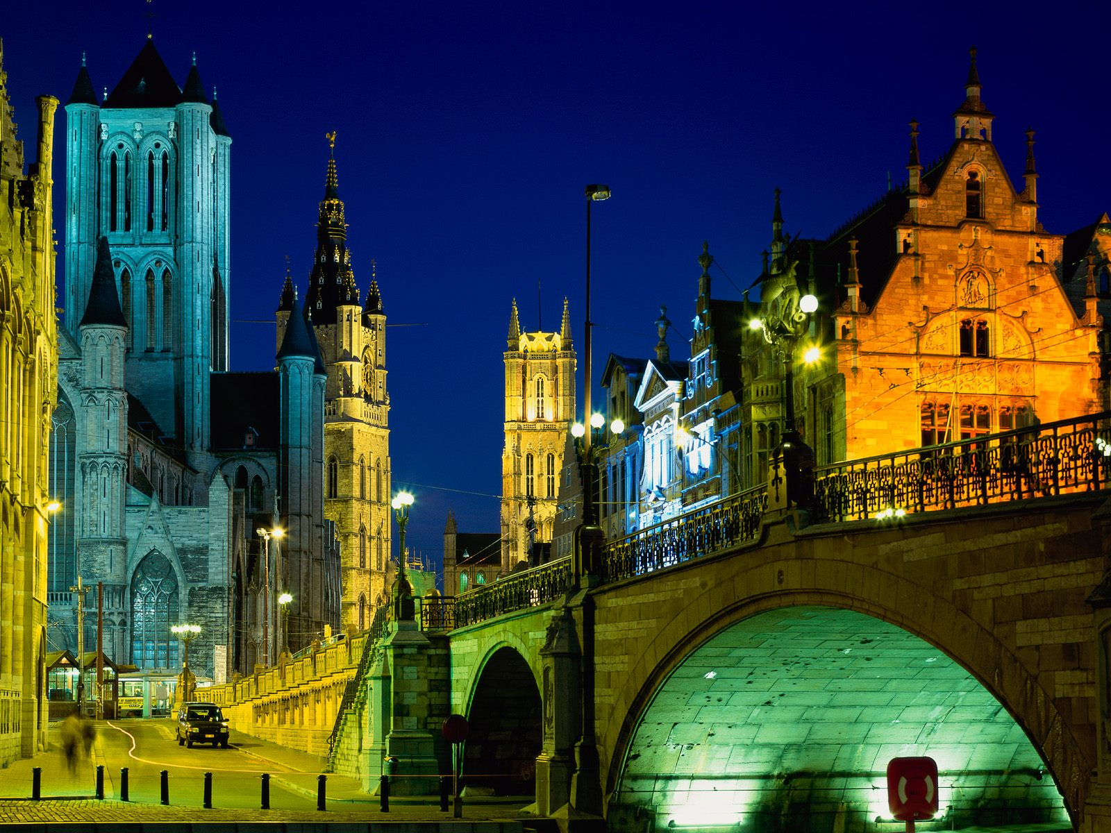 Evening in Ghent Belgium