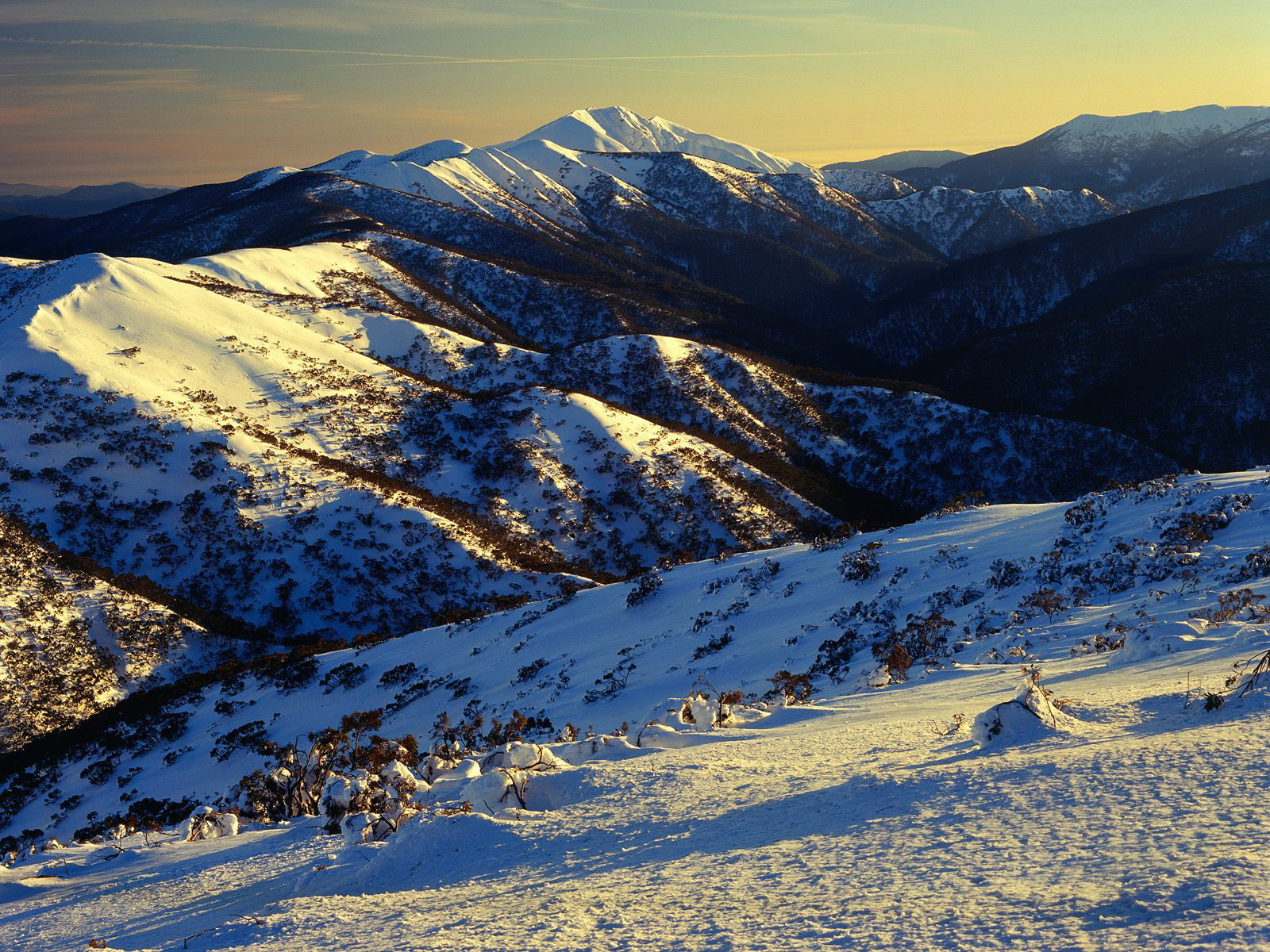 Sunrise on Mount Featherto Australia