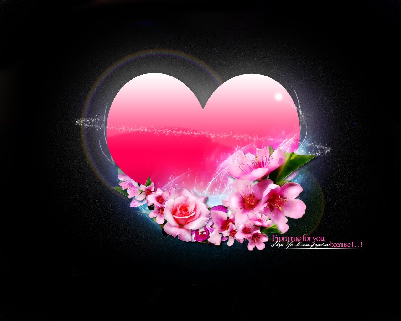 Heart & flowers 365.34 Kb