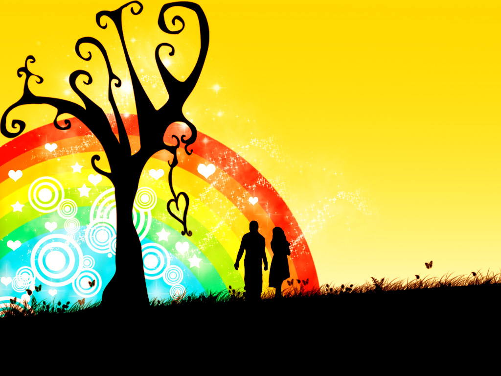 Parents Love Desktop Wallpaper : Love Rainbow #4208931, 1024x768 All For Desktop