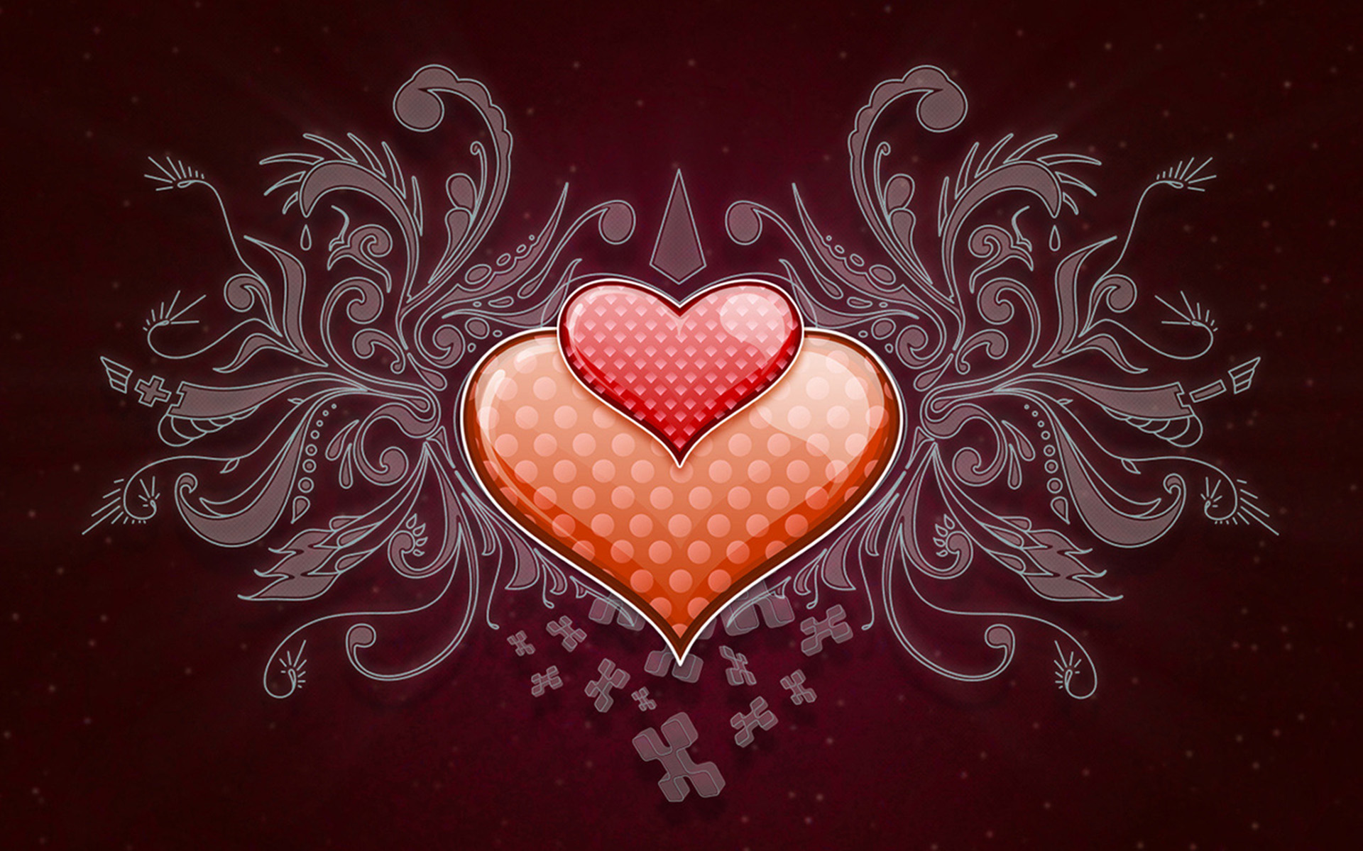 Heart Love Vector Wide