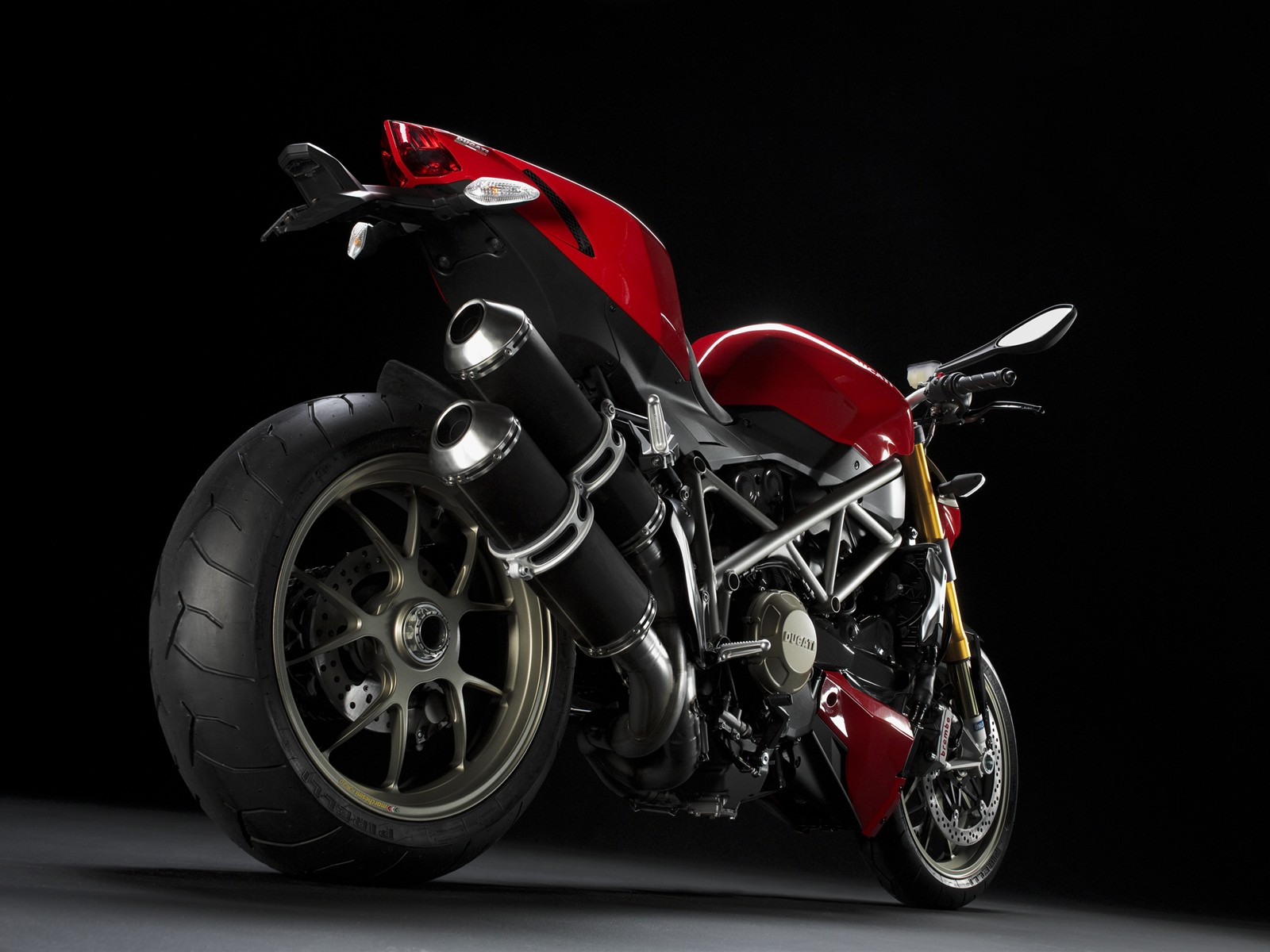 Ducati Streetfighter Red Rear
