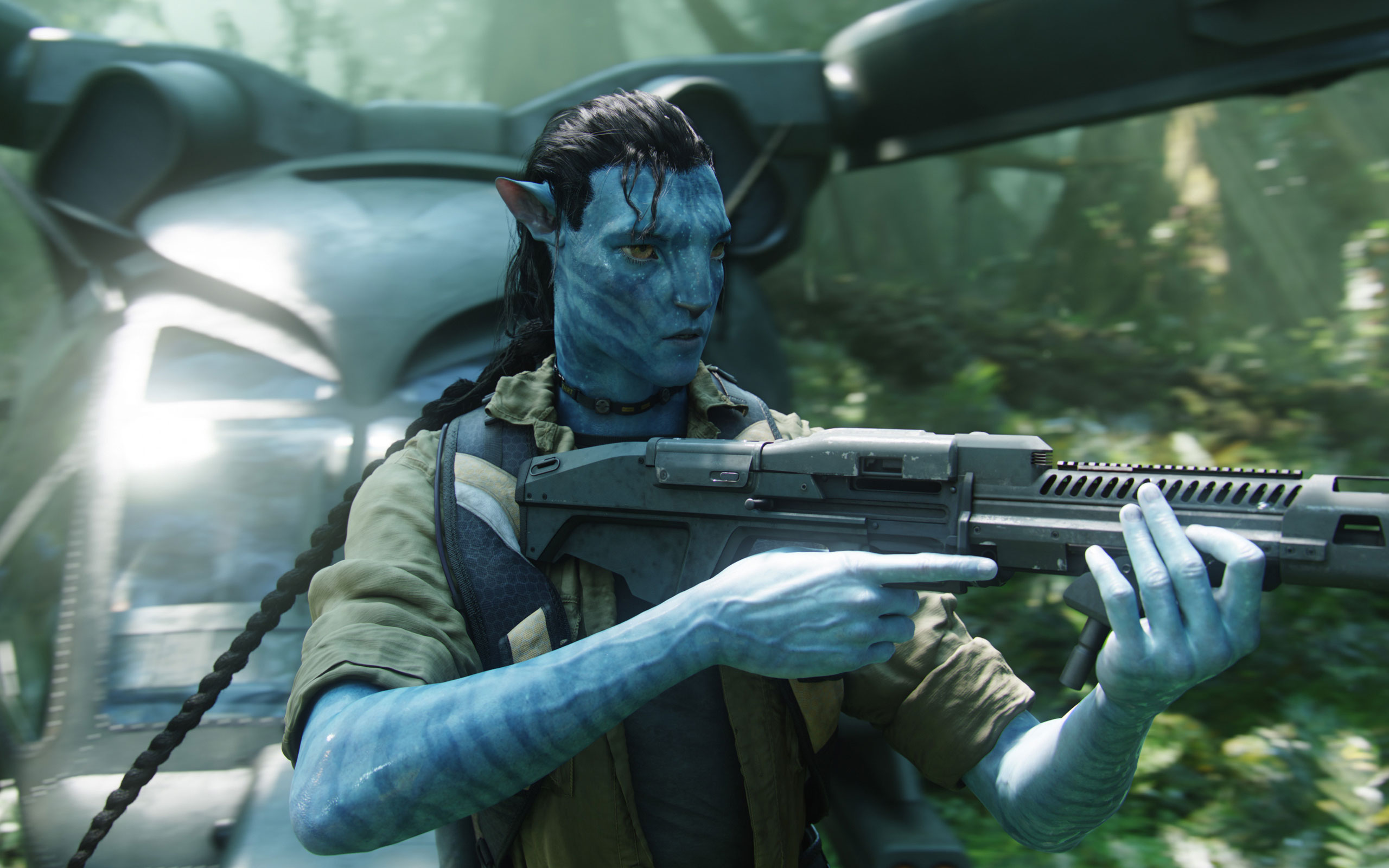 Jake With Gun in Avatar