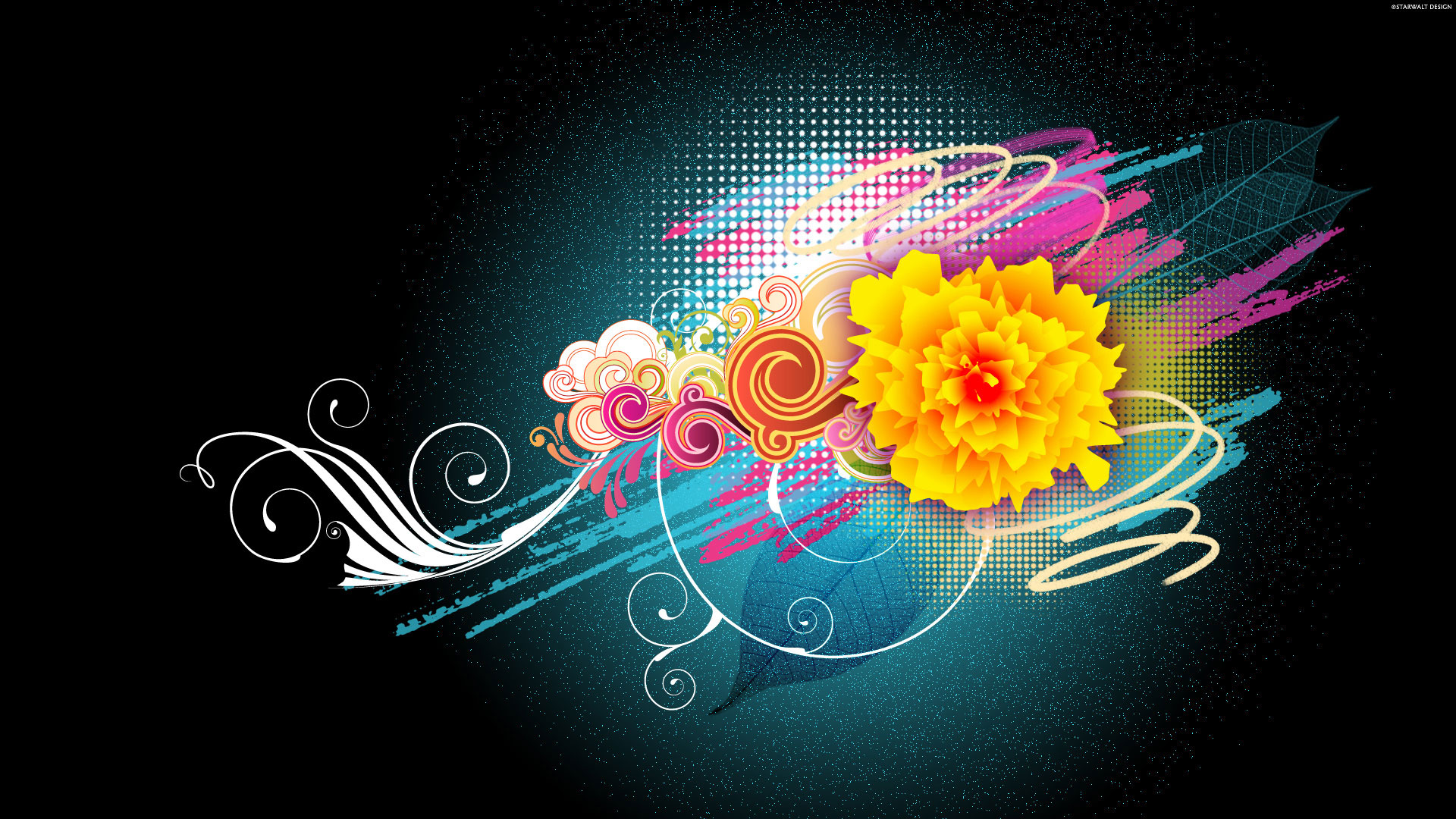 Flower Vector Designs 1080p