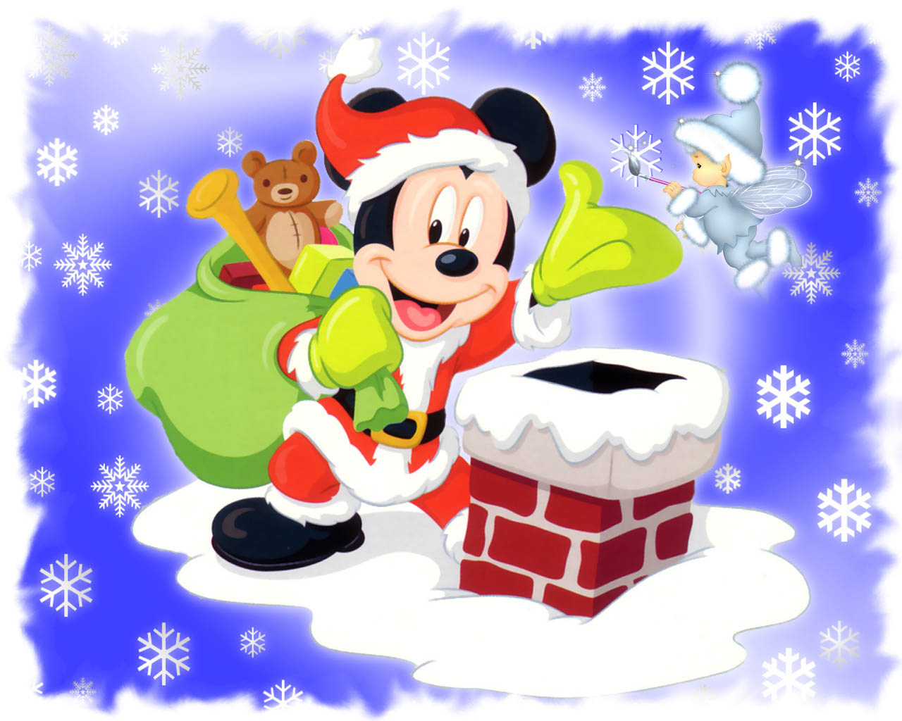 Mickey Mouse Santa 1151.15 Kb