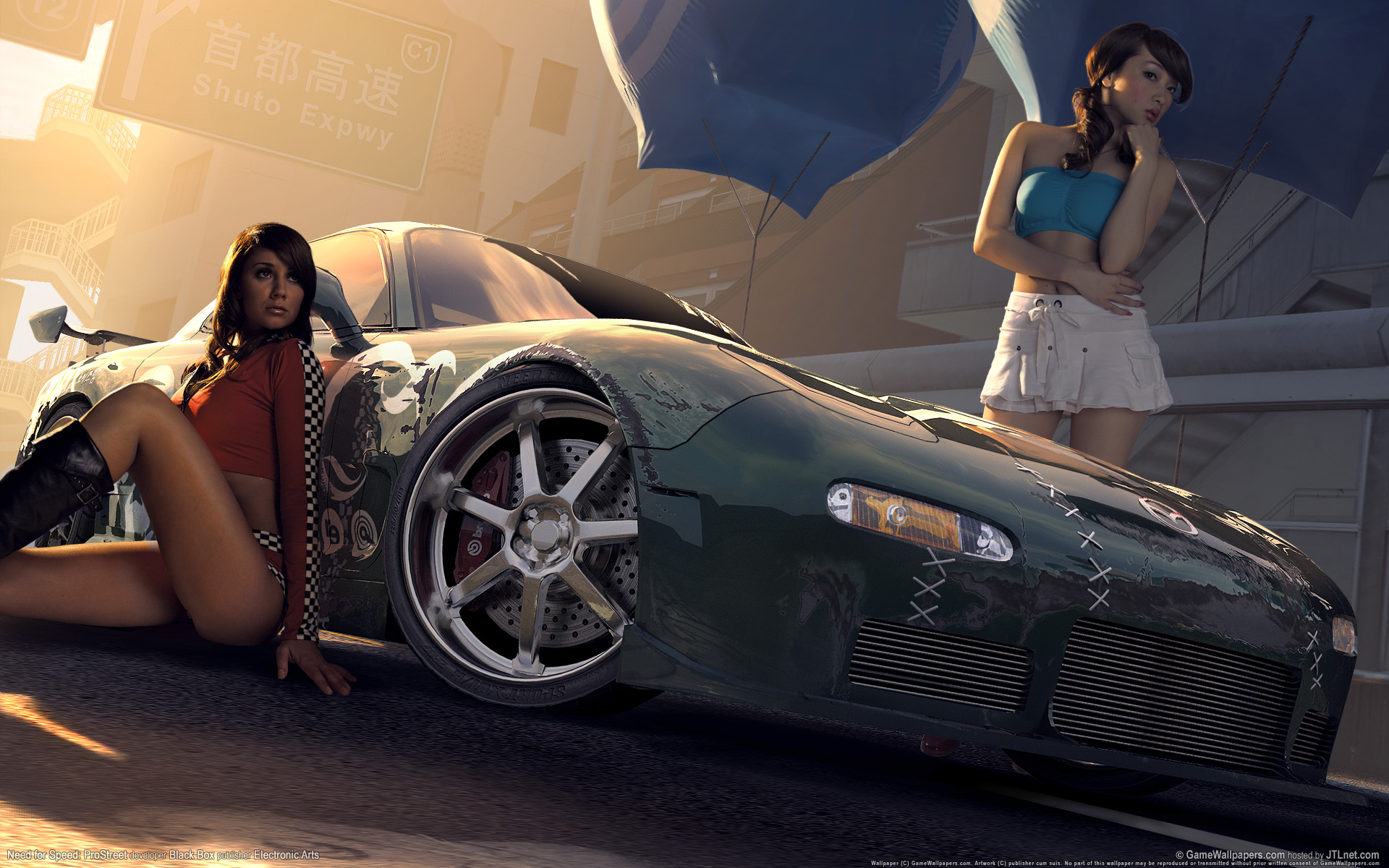 Need for speed prostreet girls 2