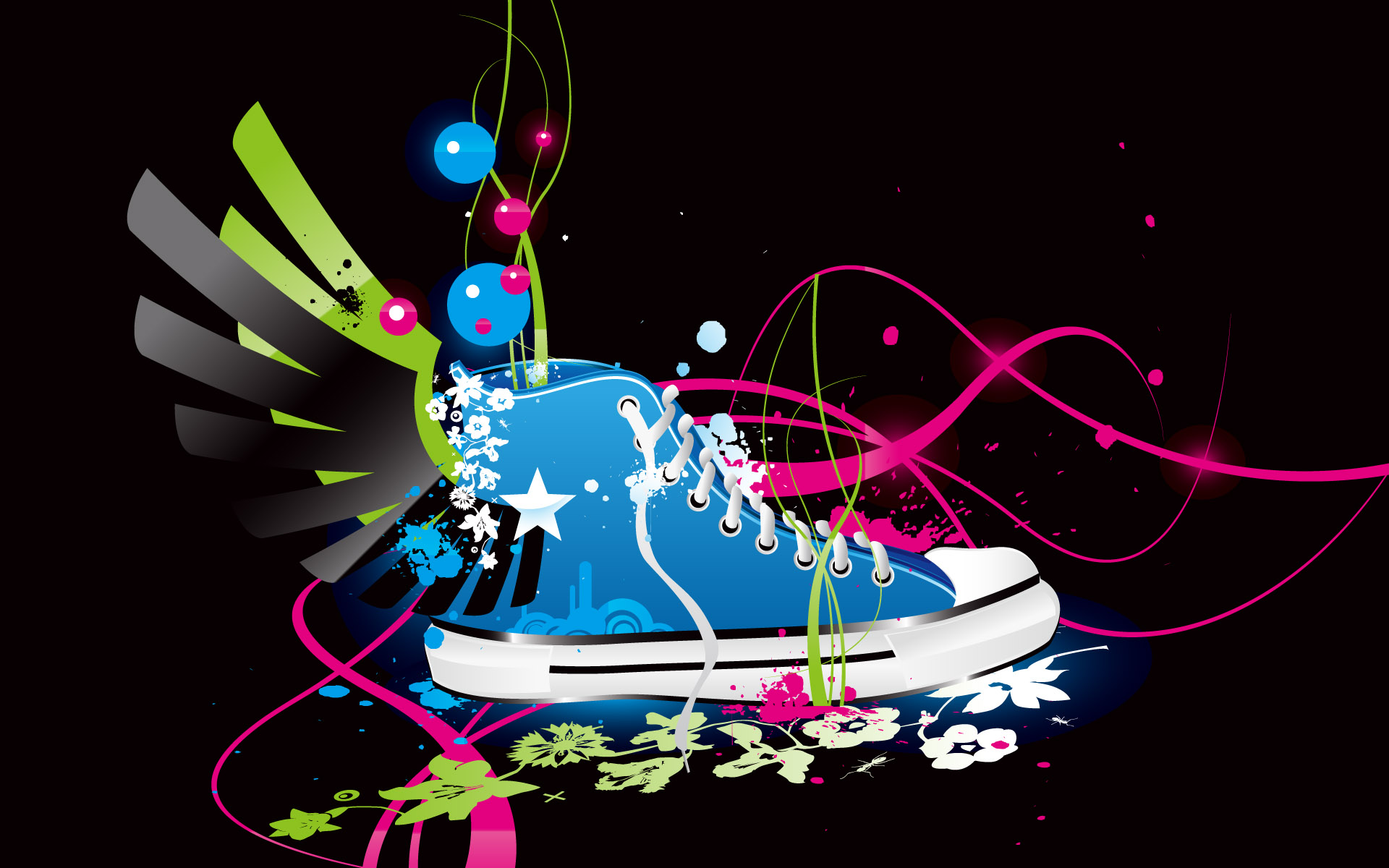 Colorful Vector Shoe HD
