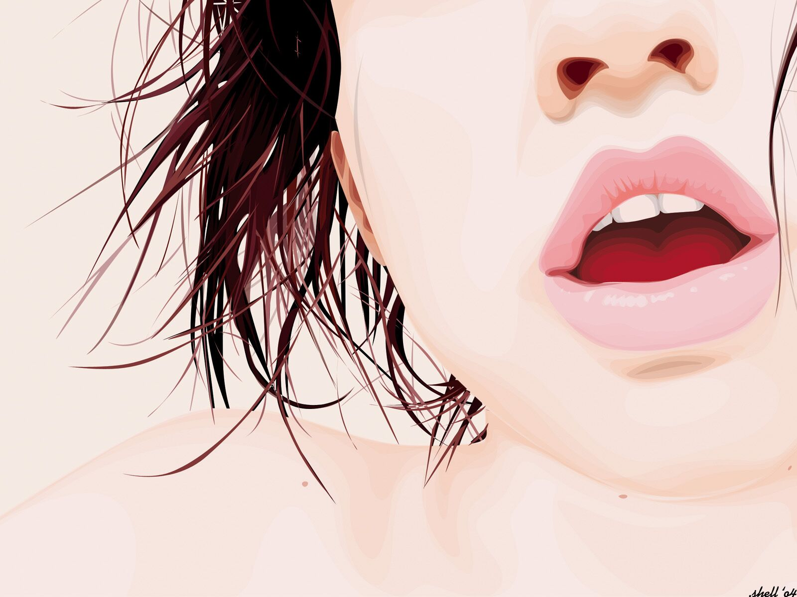 Girl Lips Vector 536.94 Kb