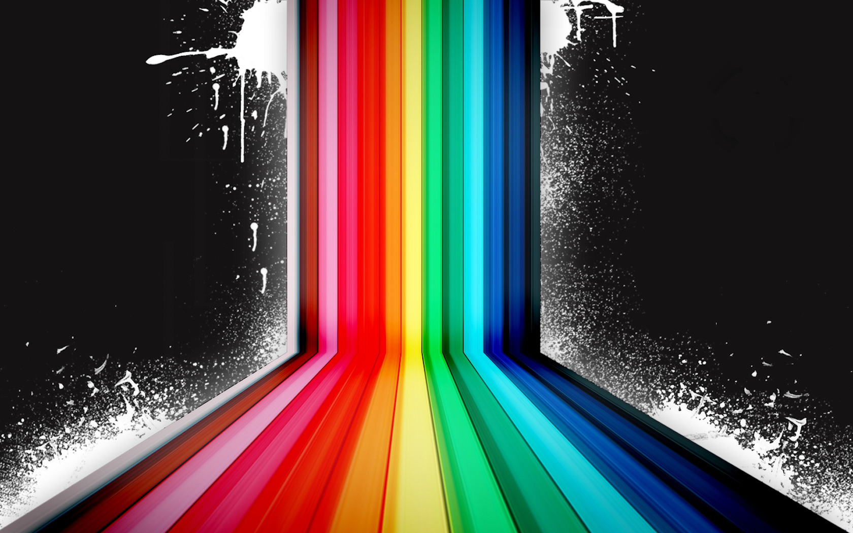 Dark Rainbow Vector